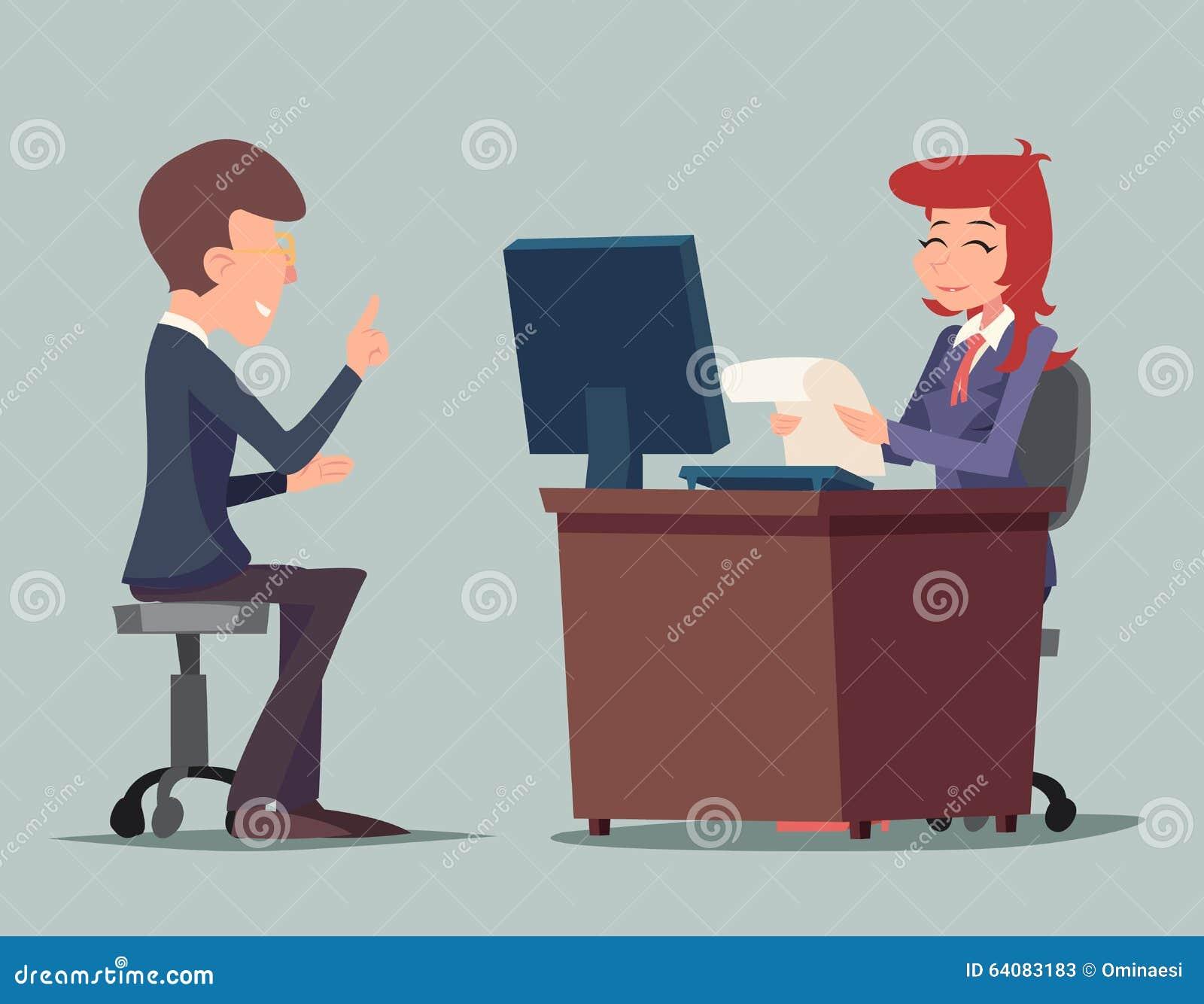 Conversazione Job Interview Businessman di compito a