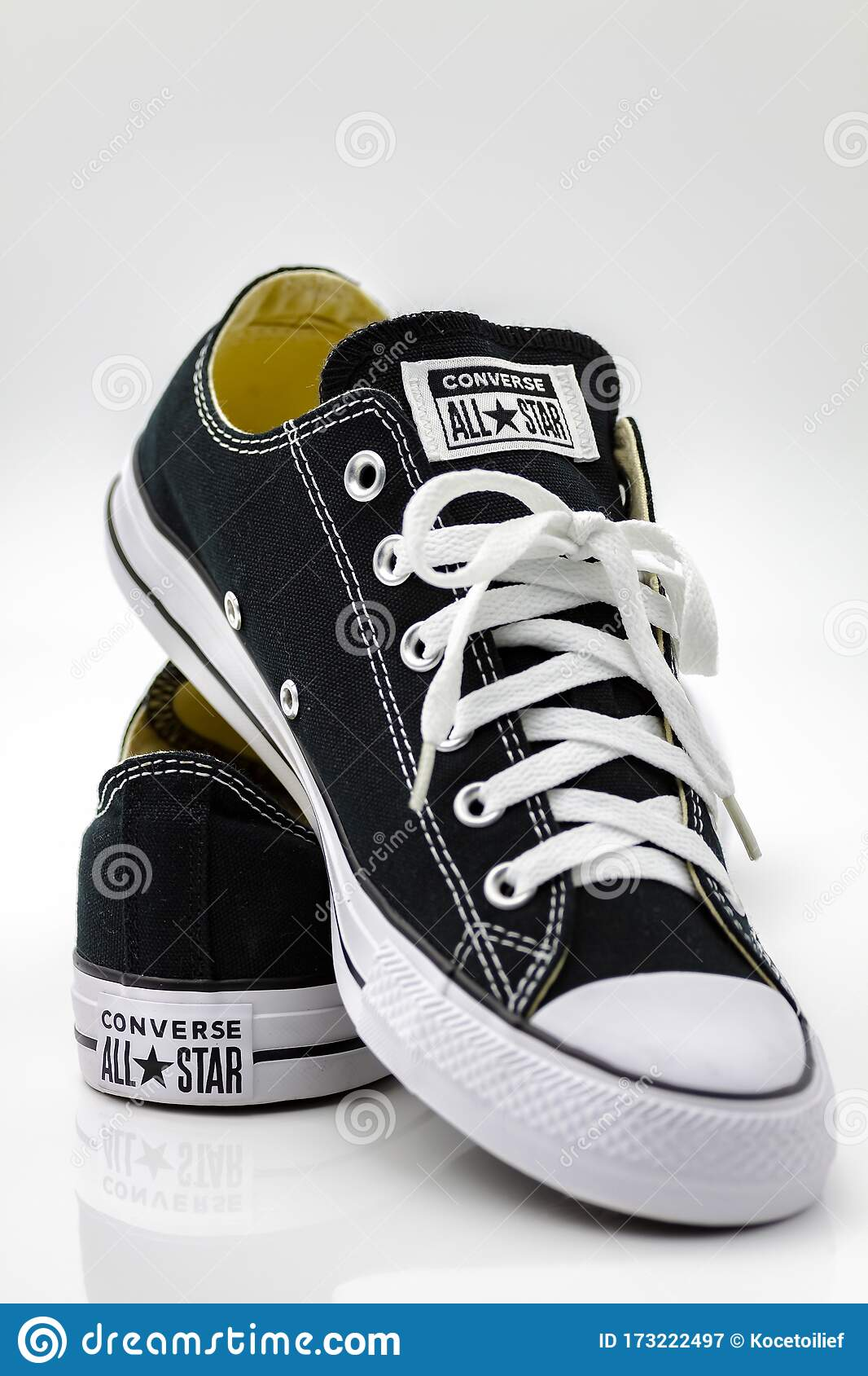 Star Canvas Shoes Editorial Photography