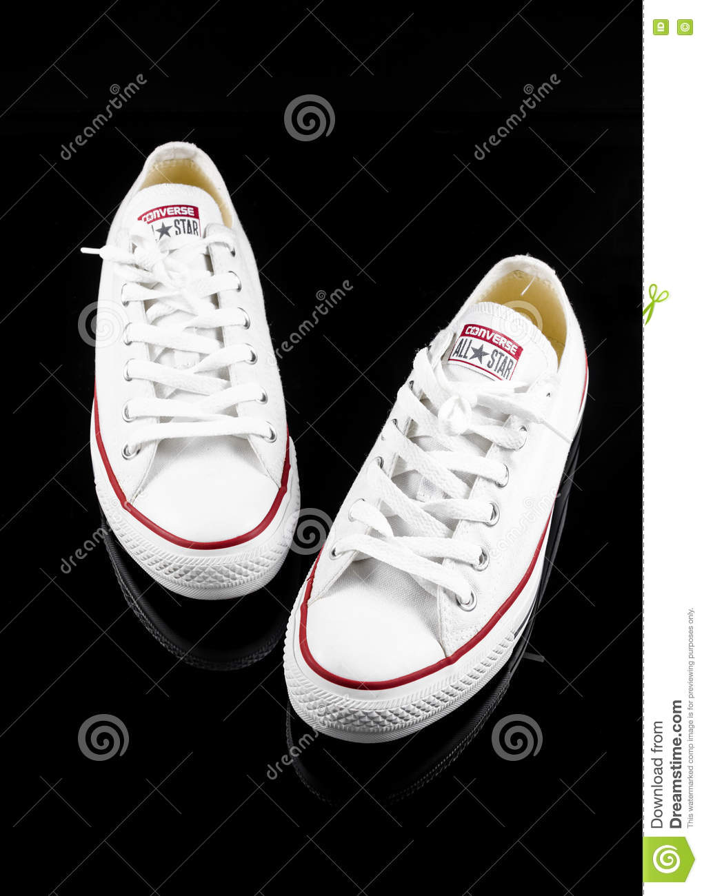 6b0af8197ed3 Converse All Star White Sneakers Editorial Stock Photo - Image of ...