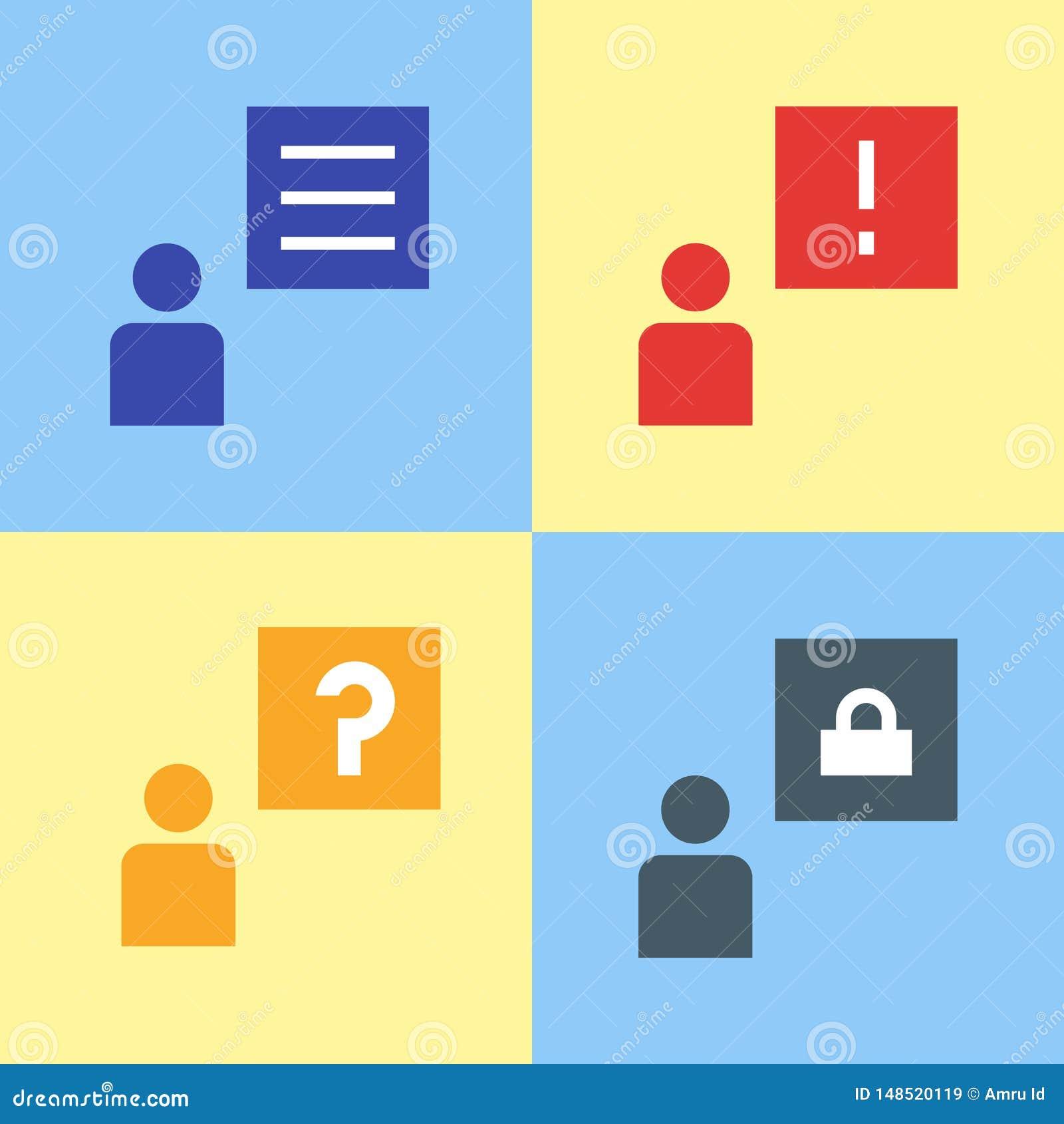 Converse a bolha, notificação das mensagens do vetor, ilustração do projeto do ícone