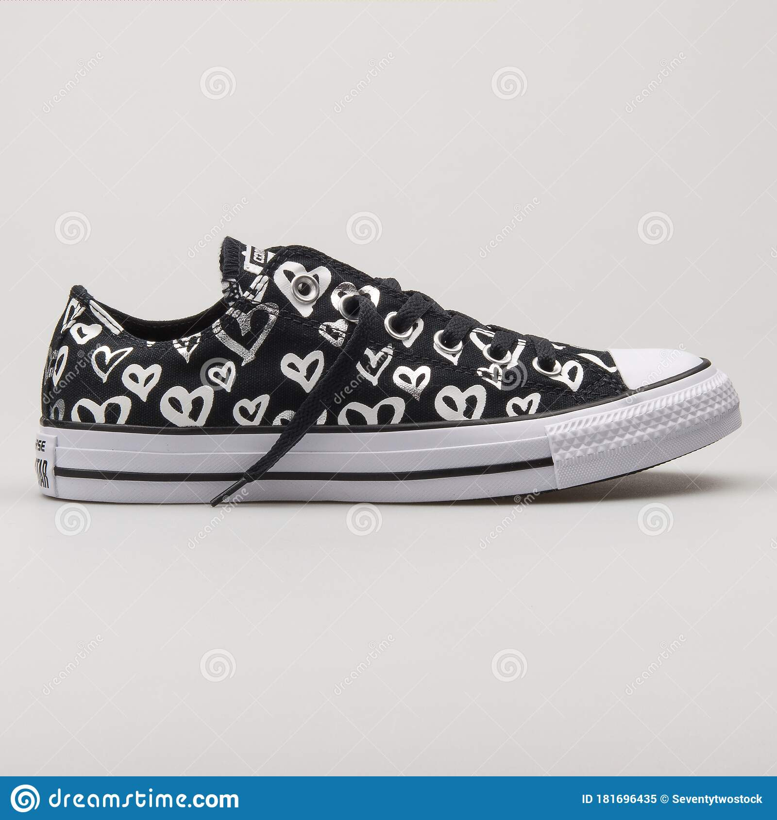 Converse Chuck Taylor All Star OX Black, Silver And White Sneaker ...