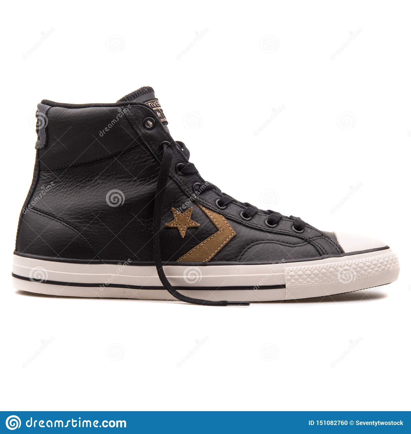Converse Star Player High Black Sneaker Editorial Image - Image of ...