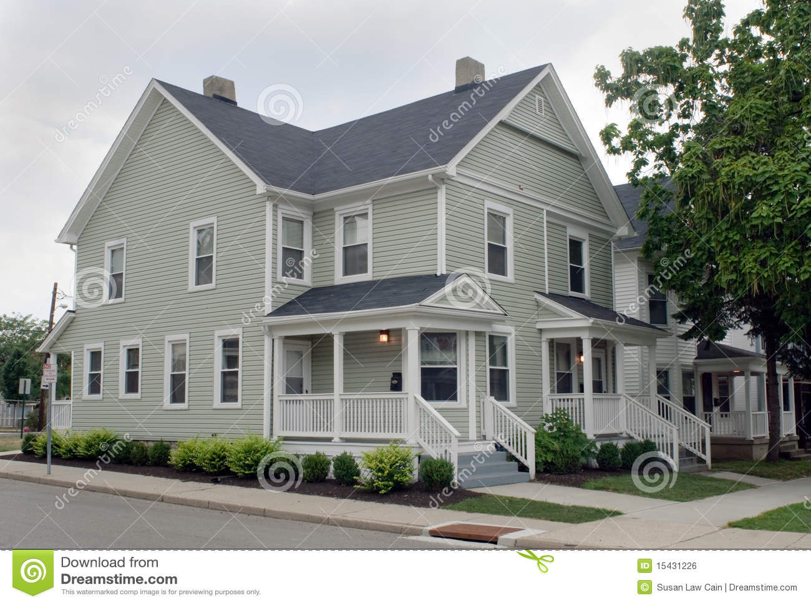 Duplex Homes Stock Image 38452633
