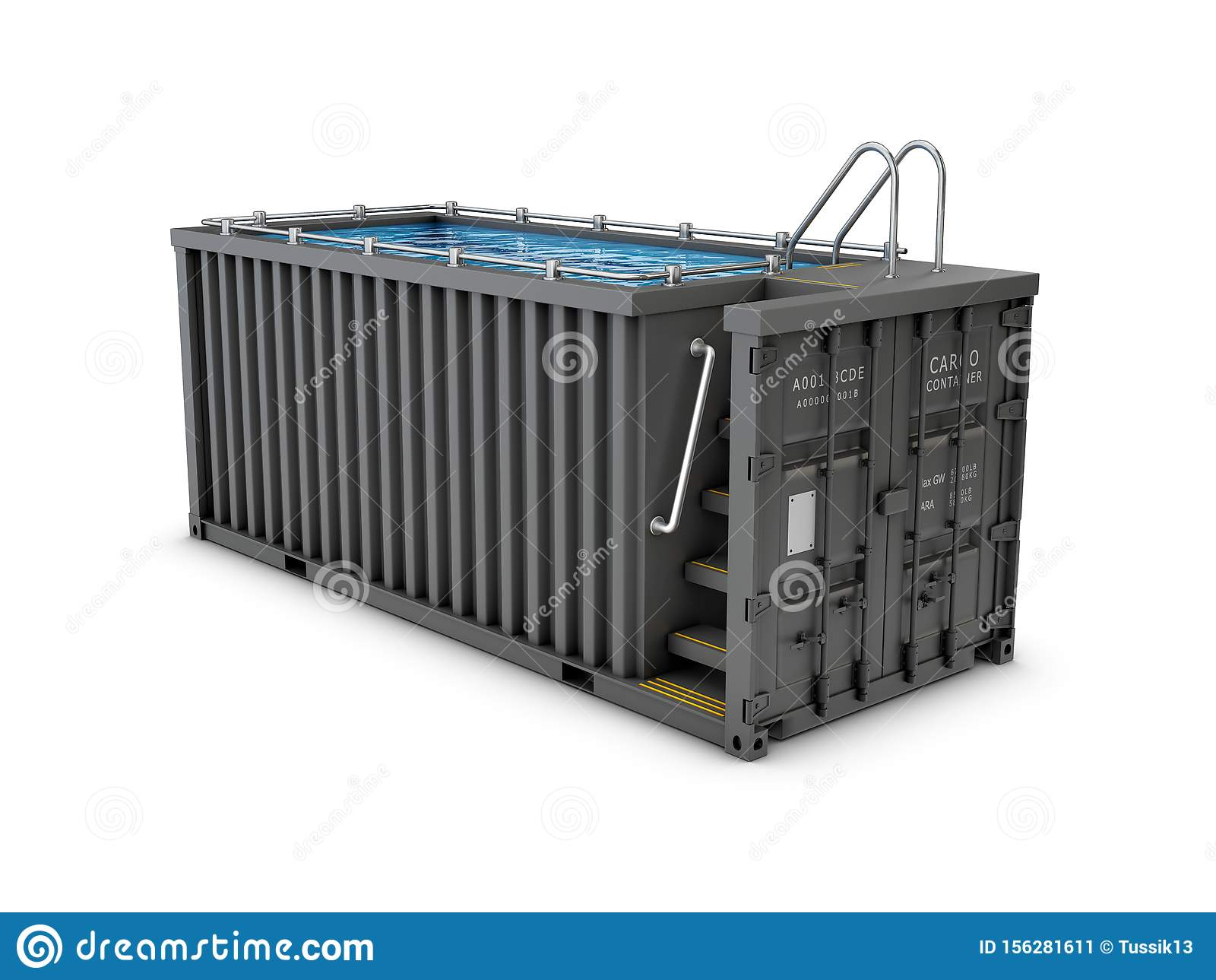 Converted Old Shipping Container Into Swimming Pool ...