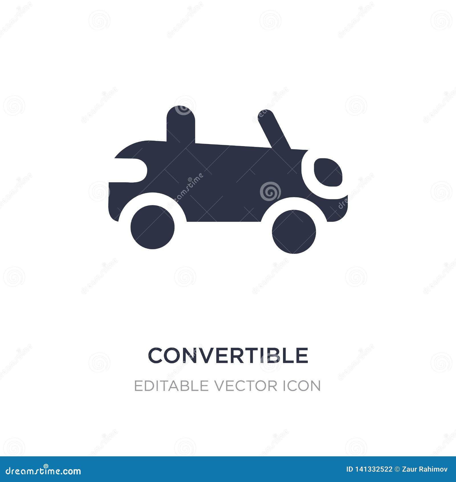 Convertibel pictogram op witte achtergrond Eenvoudige elementenillustratie van Vervoersconcept
