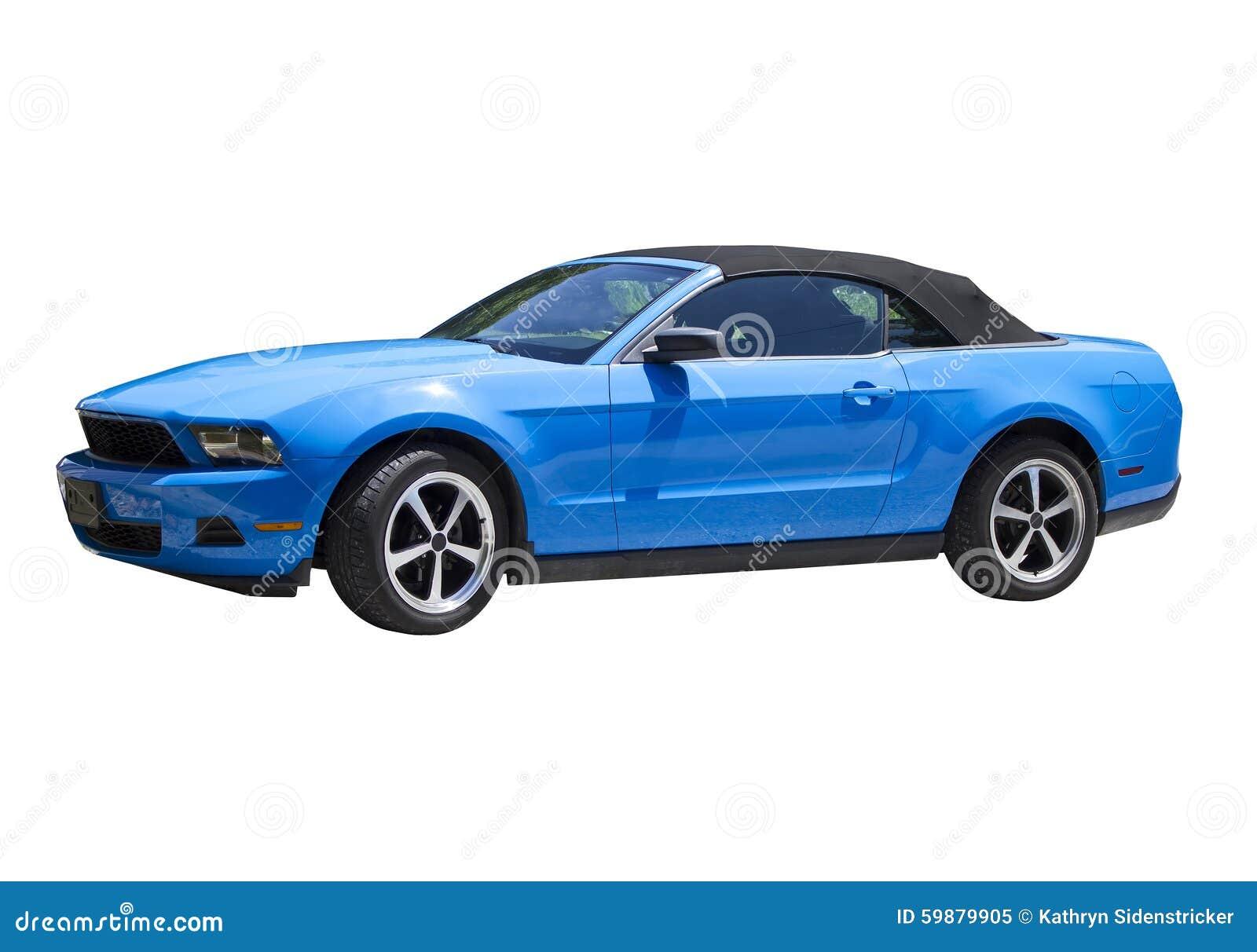 Convertible Azul 2014 Del Capturador Del Mustango Imagen De Archivo Imagen De Capturador Mustango 59879905