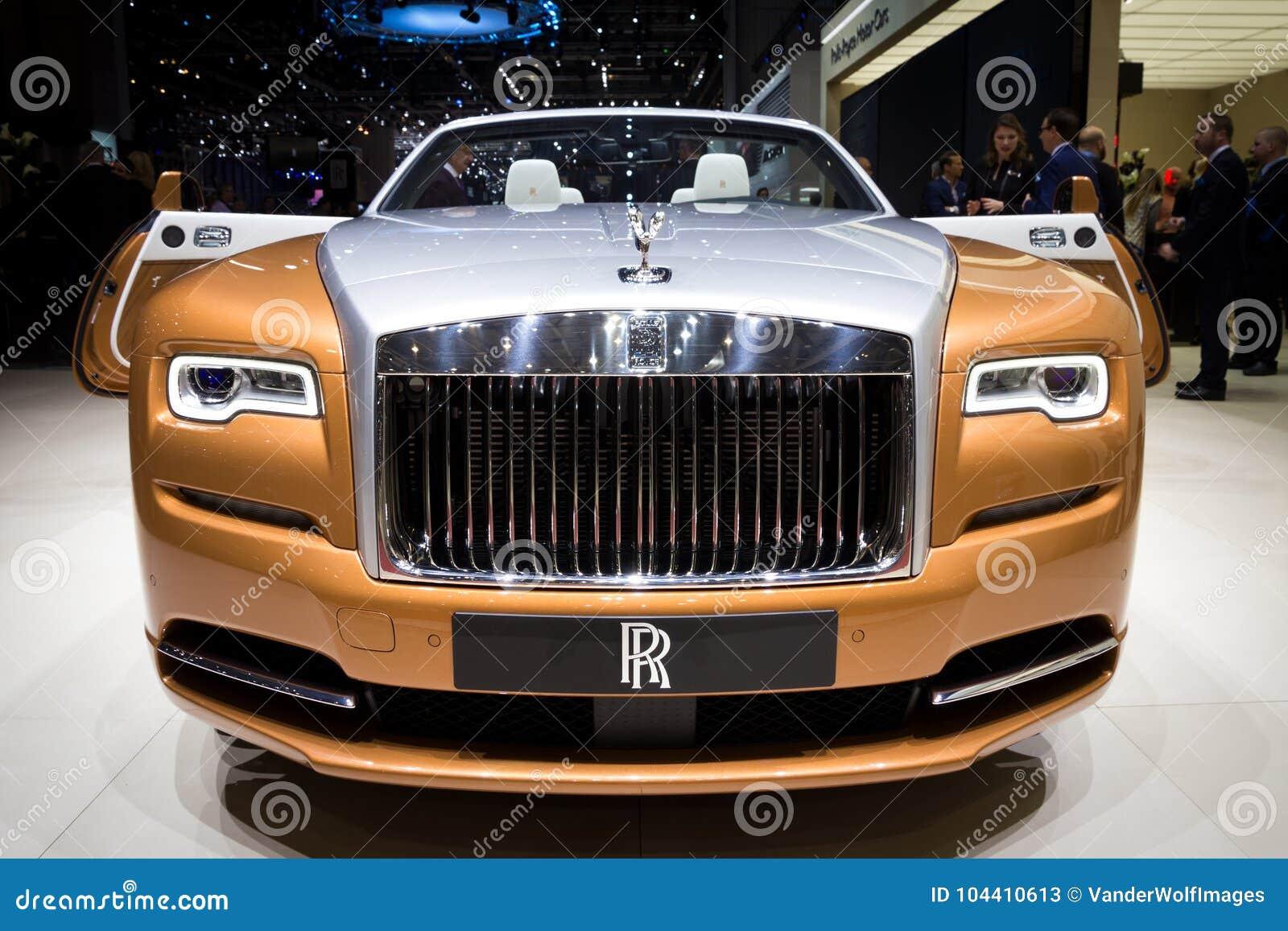 Convertible luxuoso do alvorecer de Rolls royce