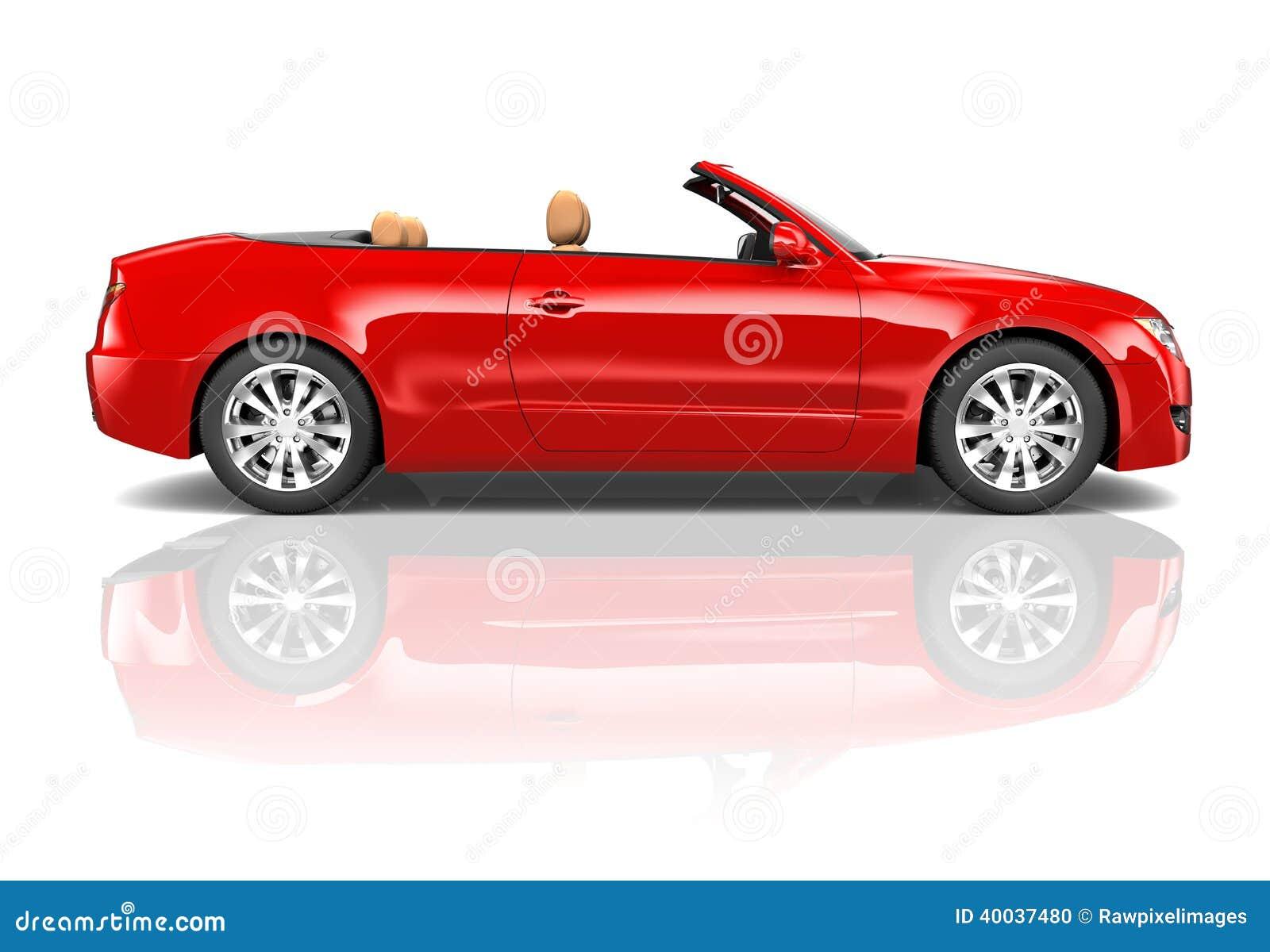 Convertible vermelho do sedan