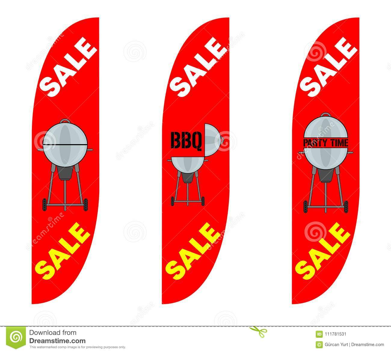 Convex Feather Flags for BBQ Party Sale