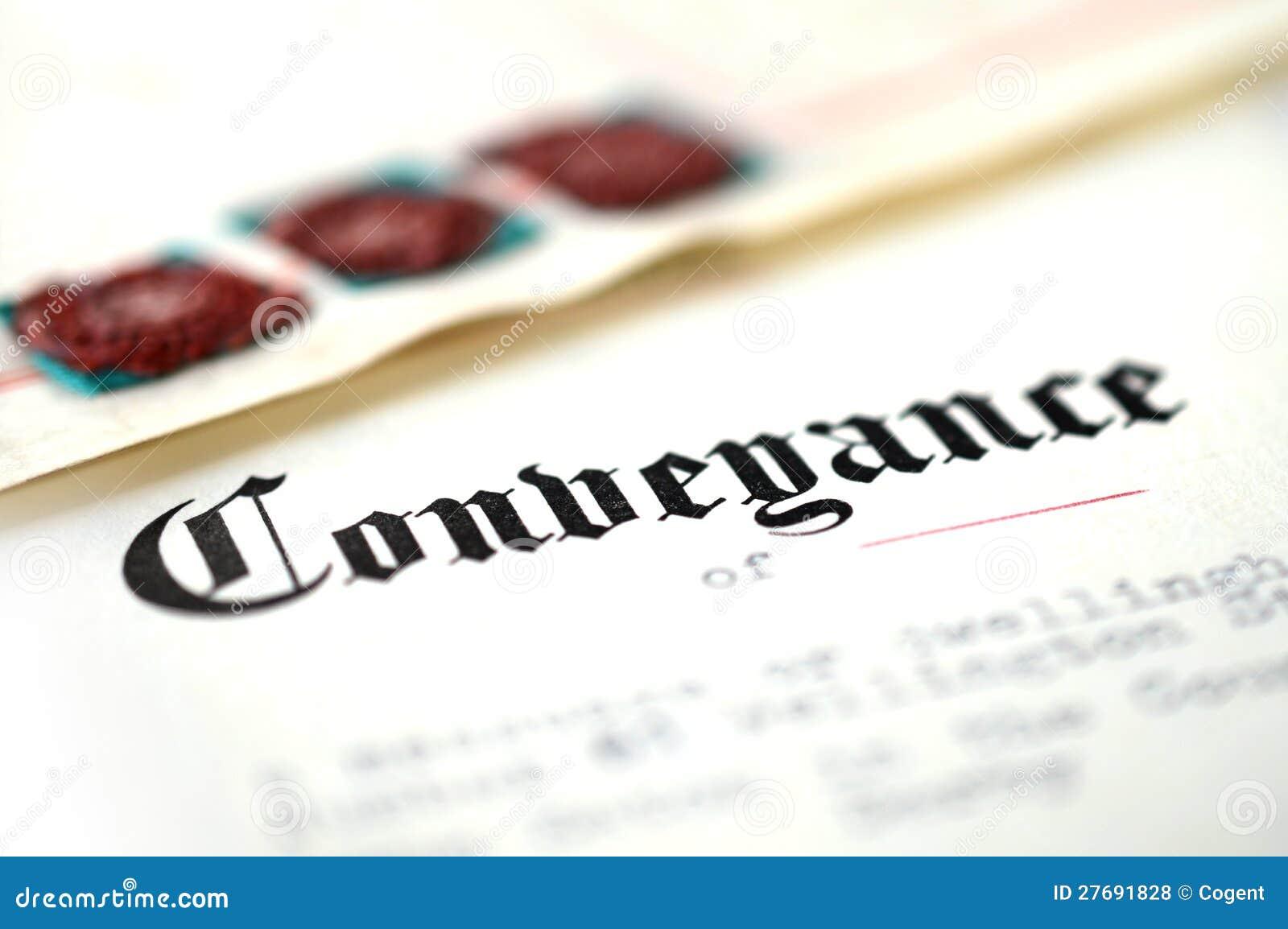 Conveyance Document Royalty Free Stock Photos Image