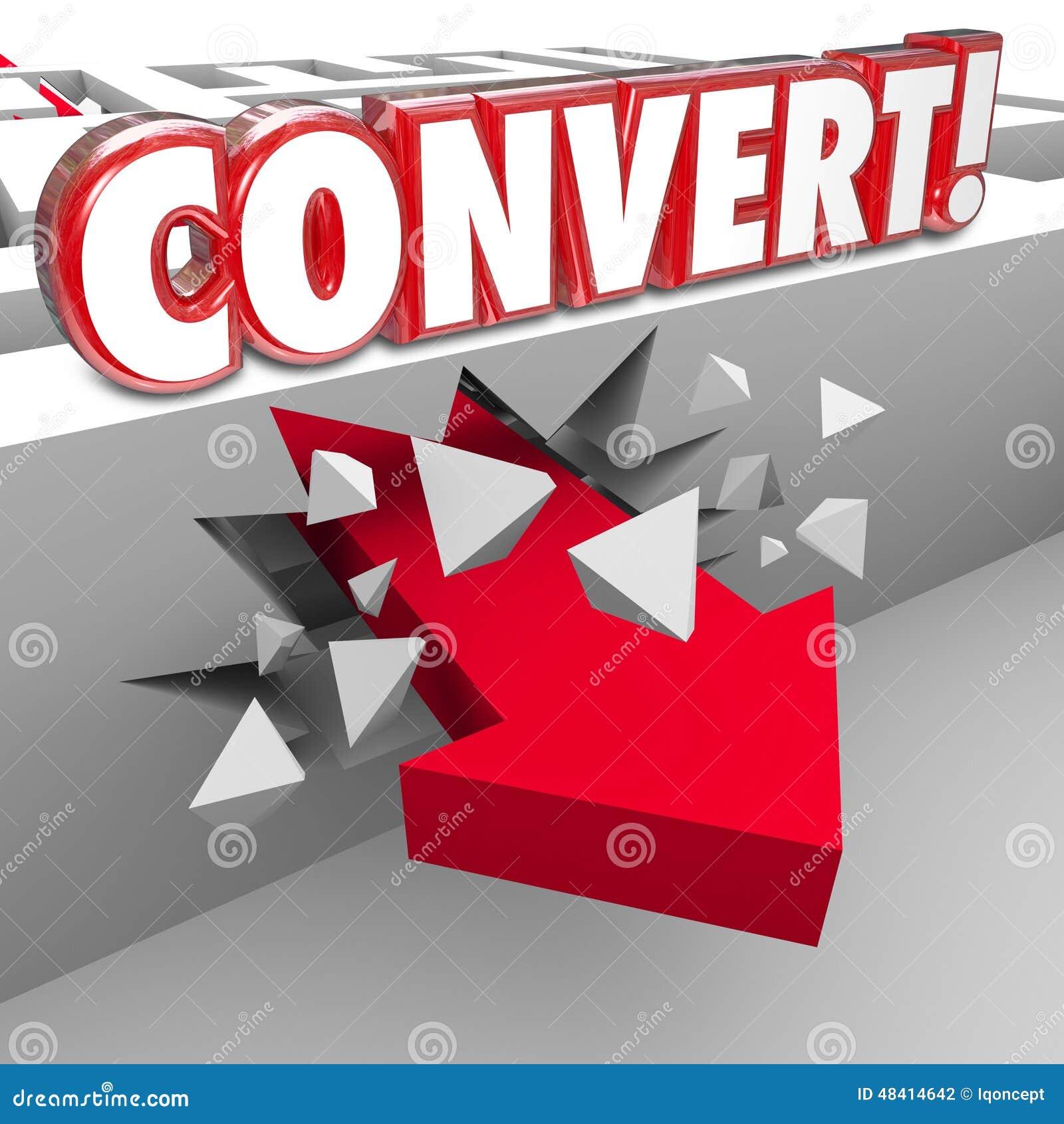 Convierta la flecha de la palabra 3d a través de Maze Selling a los clientes