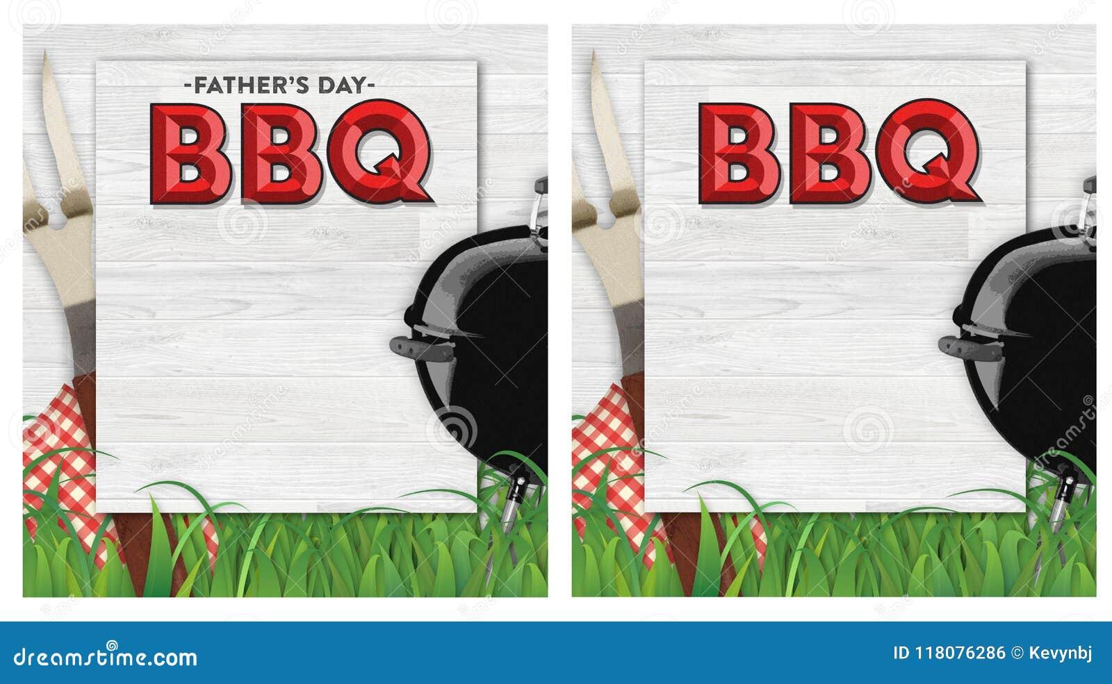 Convite do BBQ do dia de pais