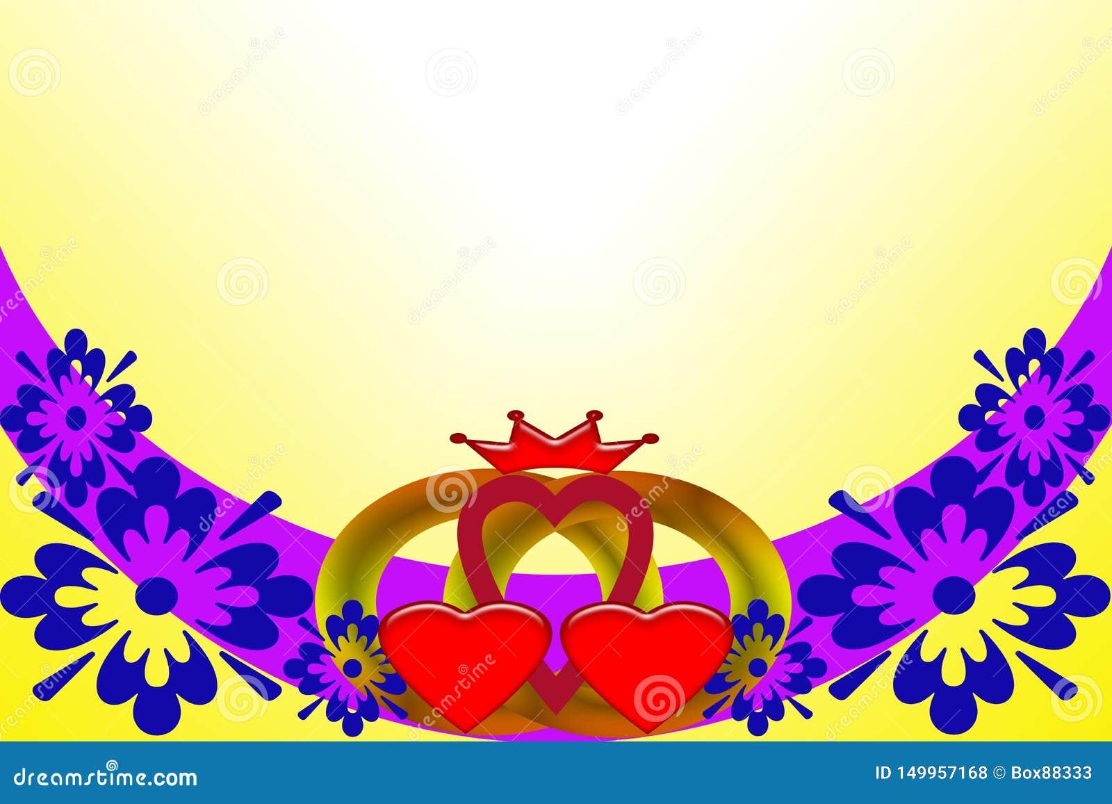 Convite do casamento Imagem abstrata com elementos coloridos