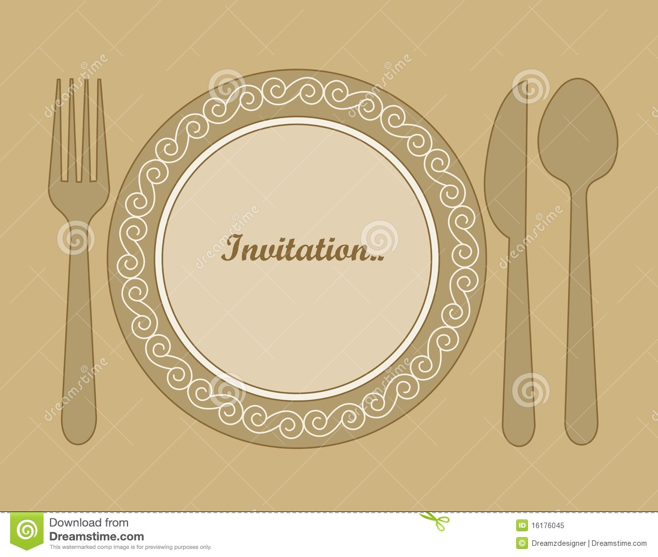 Invite To Dinner was nice invitation example