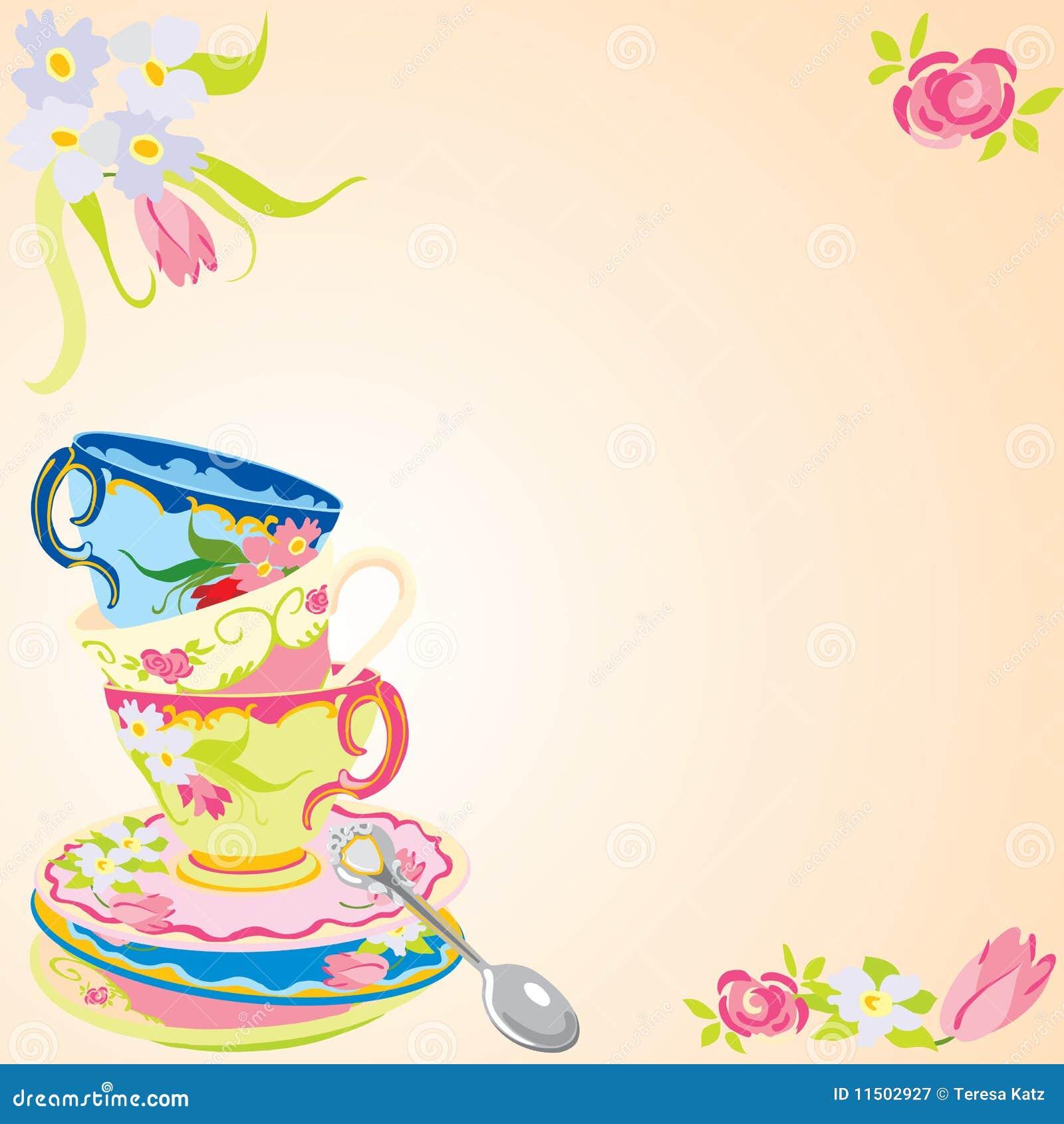 Convite Do Partido De Chá. Fotografia de Stock Royalty ...