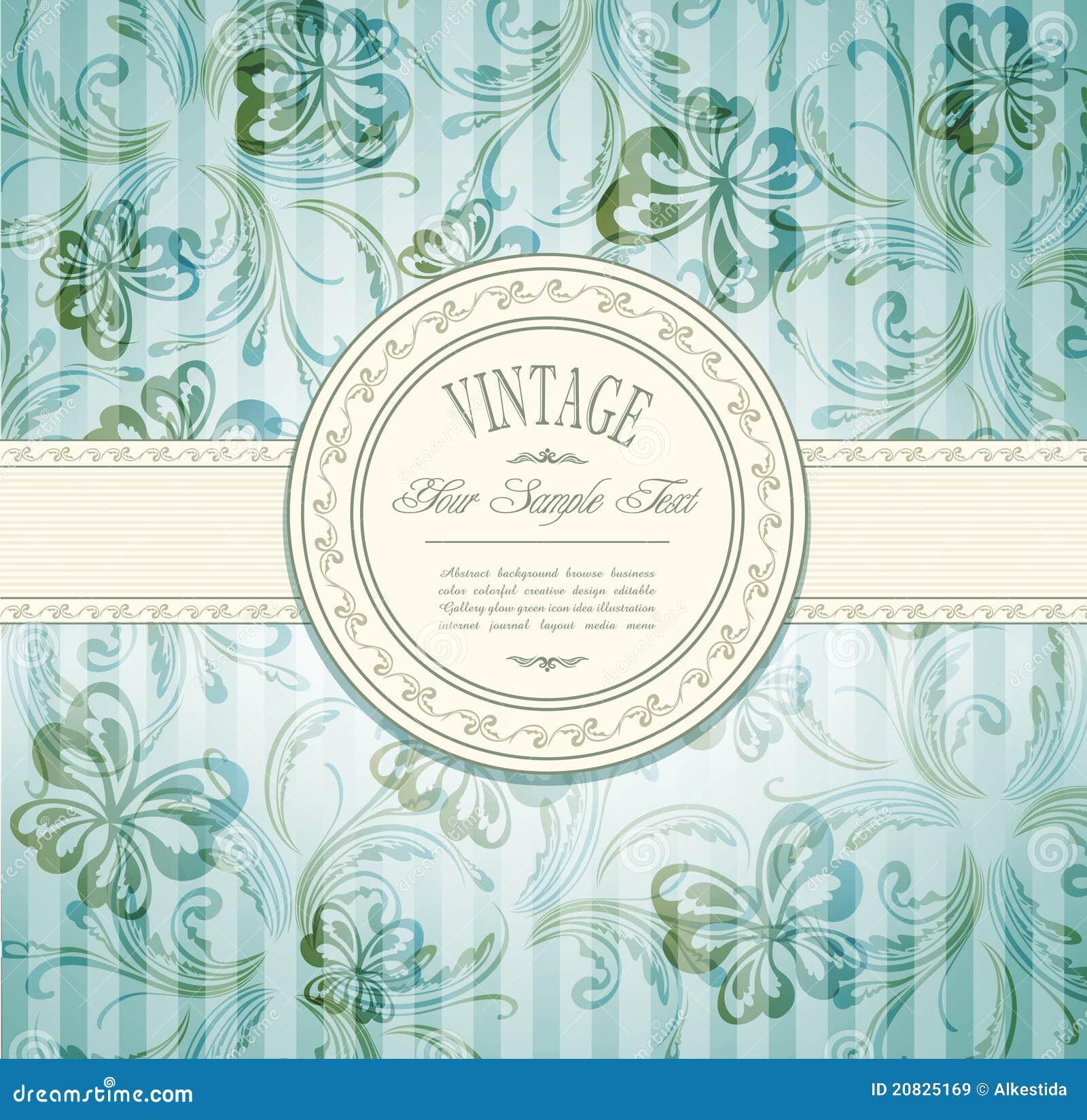 Convite elegante do vintage
