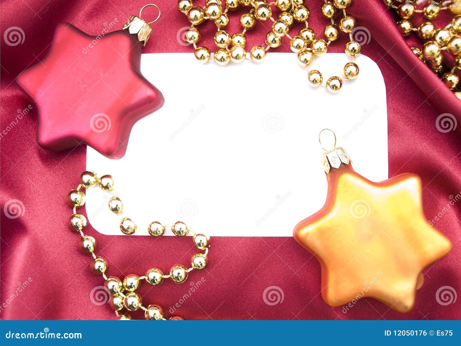 Convite Em Branco Do Natal Imagem De Stock Royalty Free Imagem 12050176