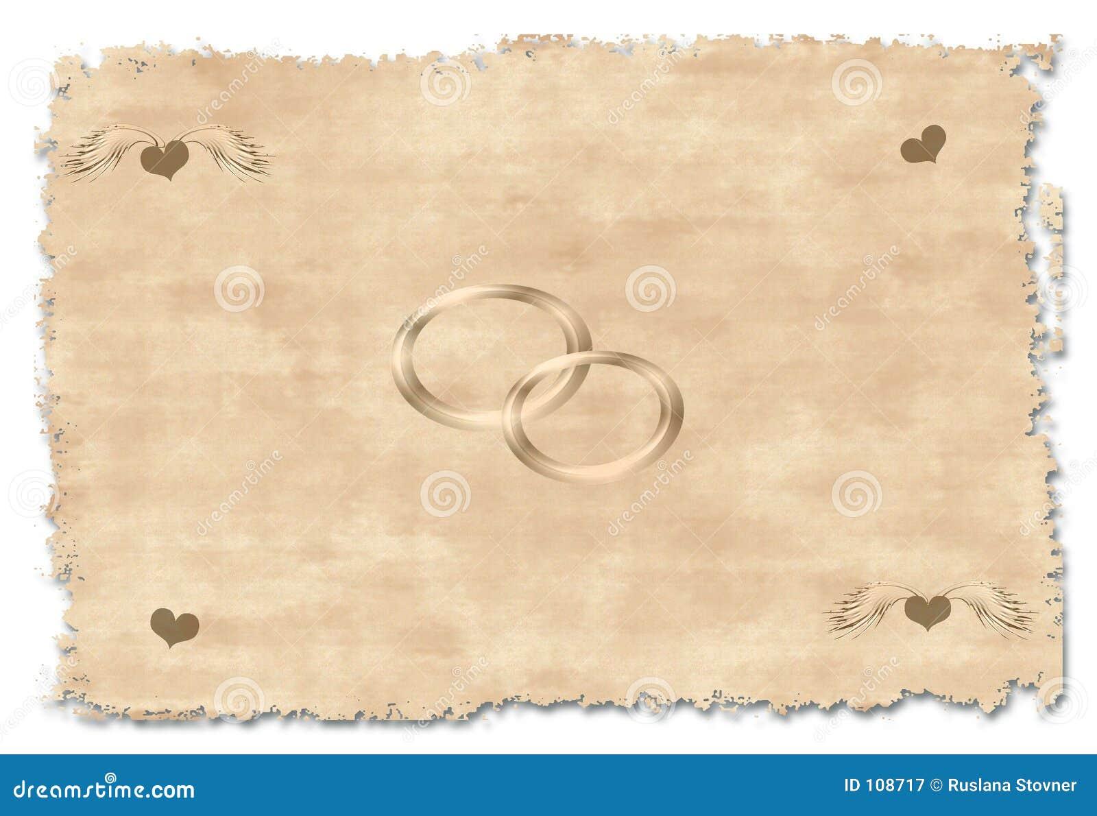 Convite velho do casamento