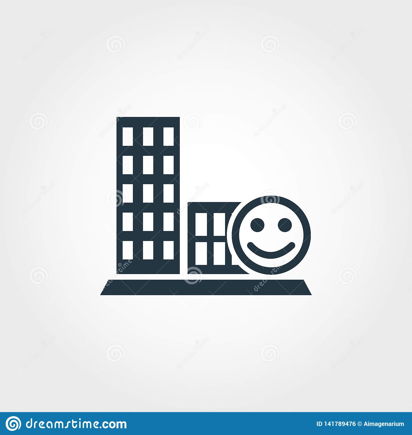 Conviviality creative icon. Monochrome style design from urbanism icons collection. Conviviality icon for web design