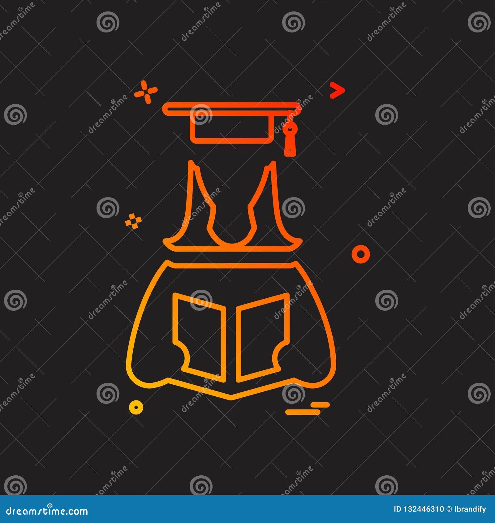 Convocation Icon Design Vector Stock Vector - Illustration