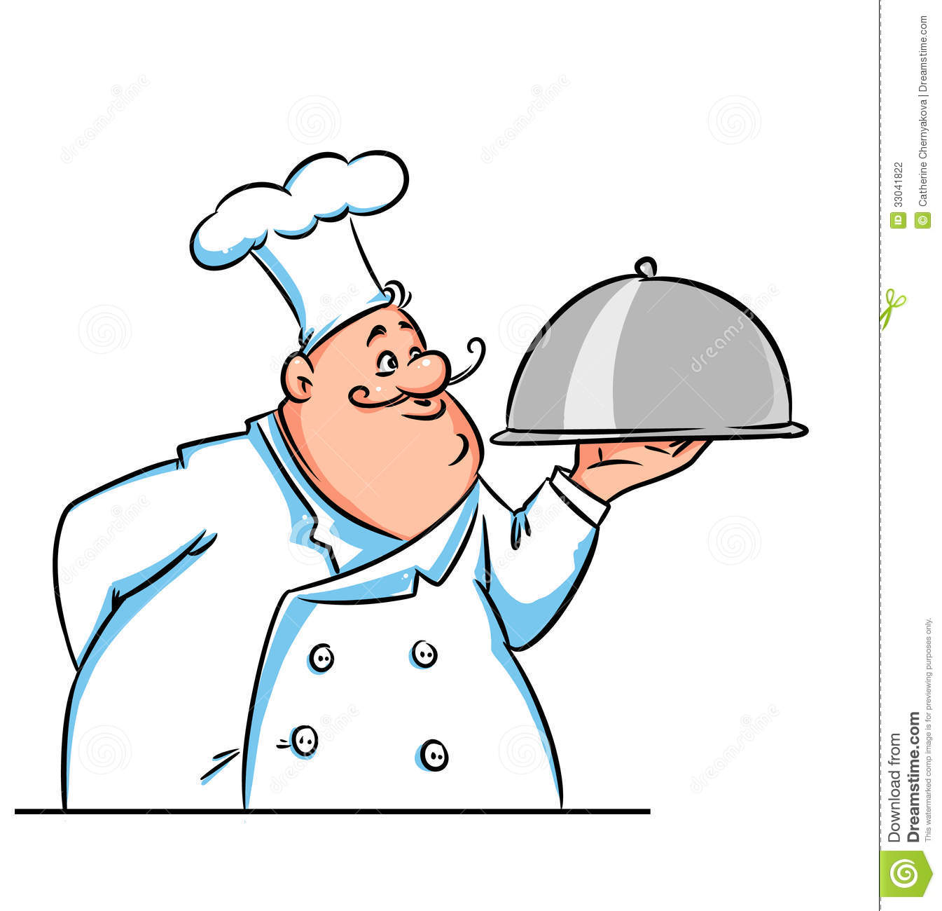 Cook Big Illustration Cartoon Stock Photography - Image: 33041822