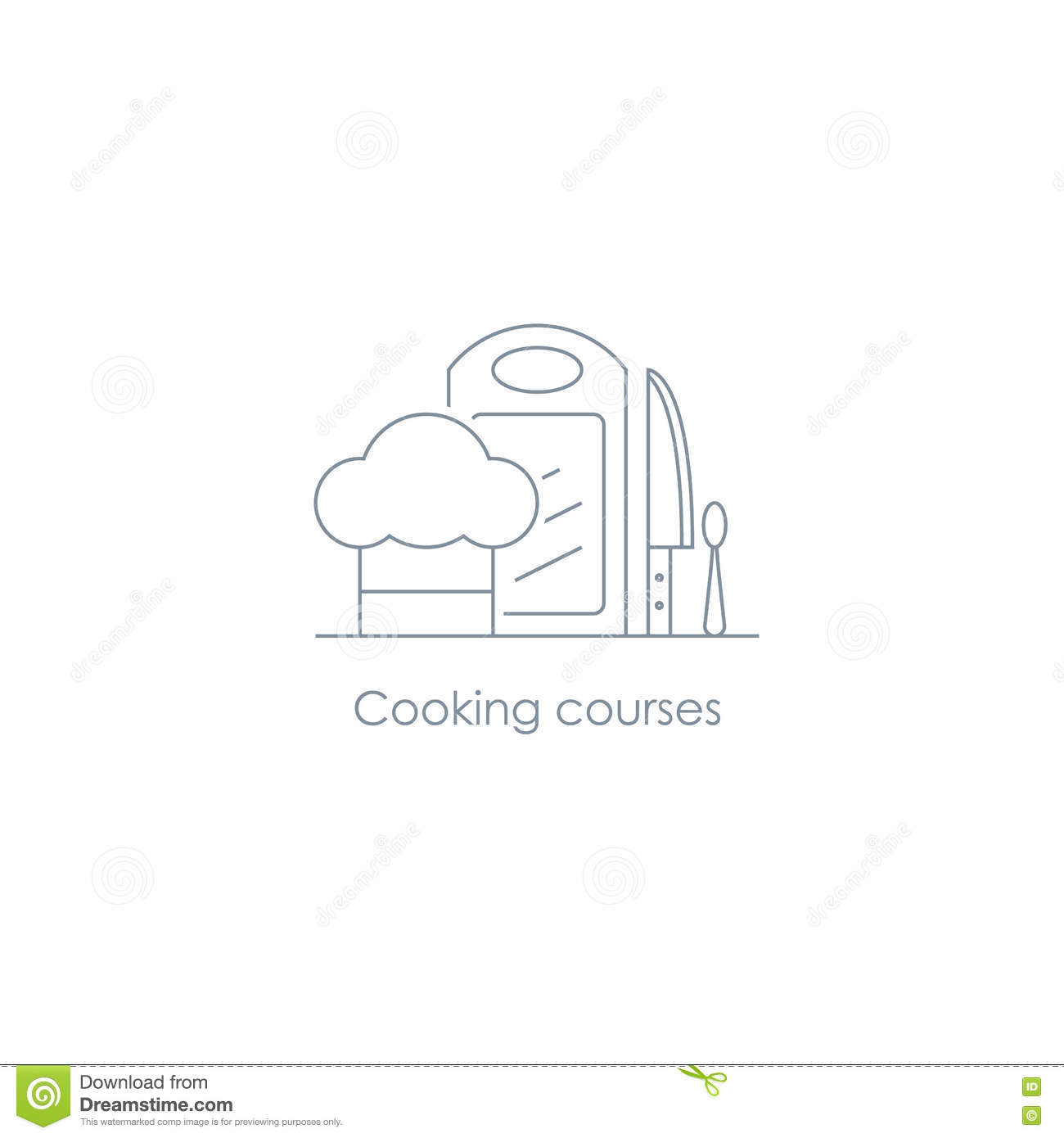 Catering service menu food icon cartoon vector for Kitchen decoration logo