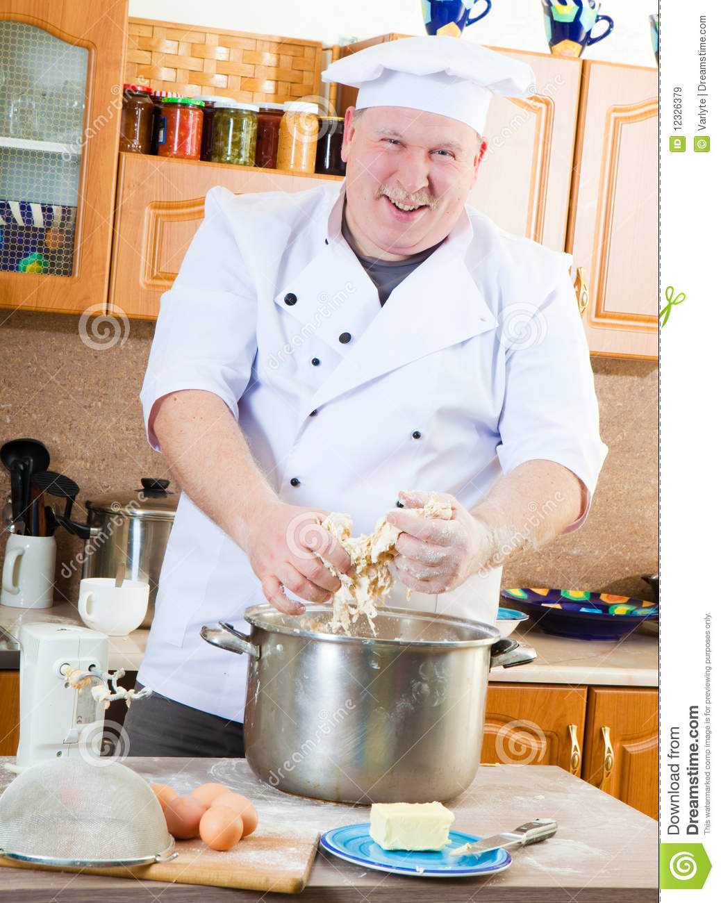 Amazing Royalty Free Stock Photo. Download Cook Man In Kitchen ...
