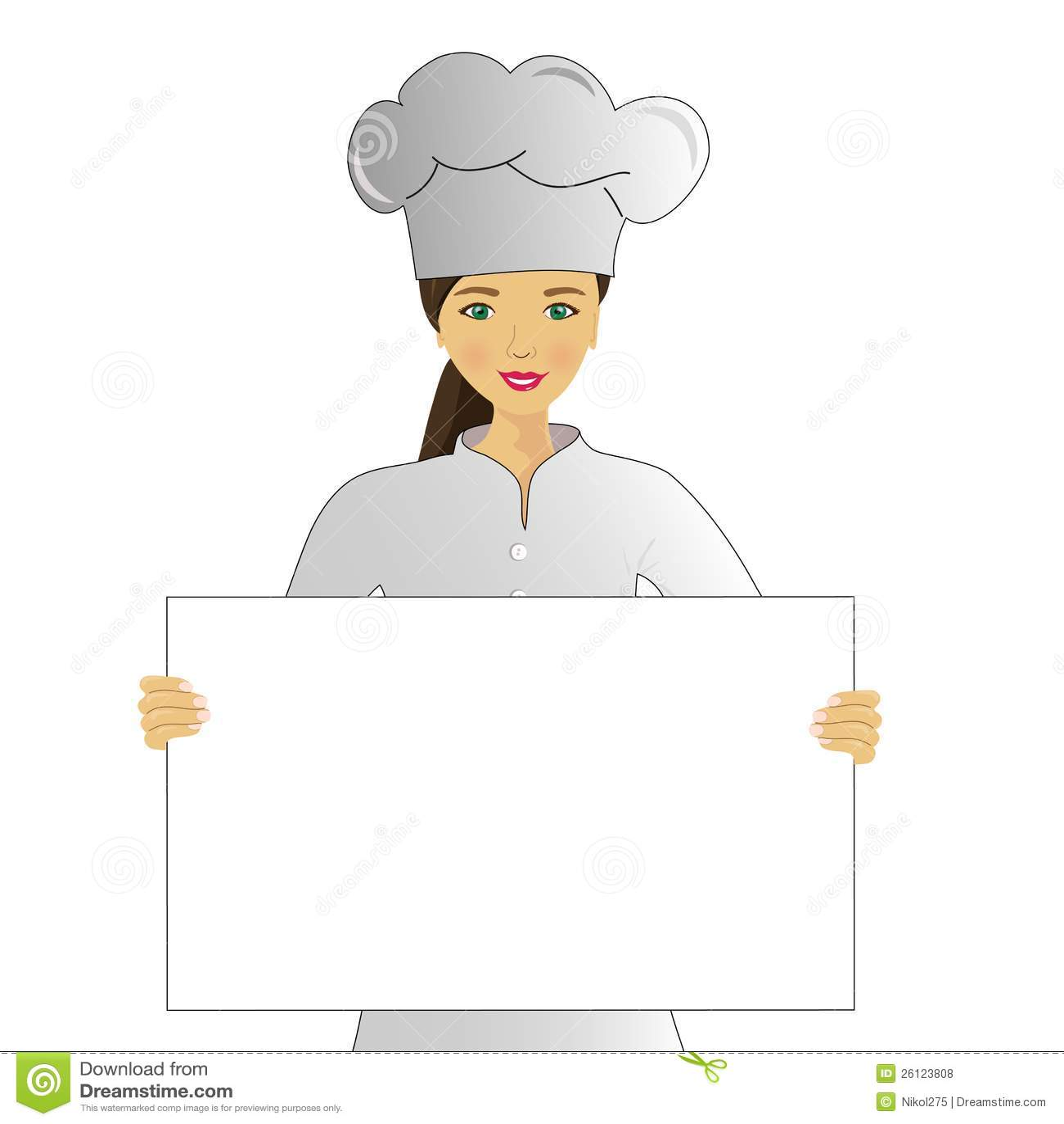 Cook With Menu Royalty Free Stock Photos Image 26123808