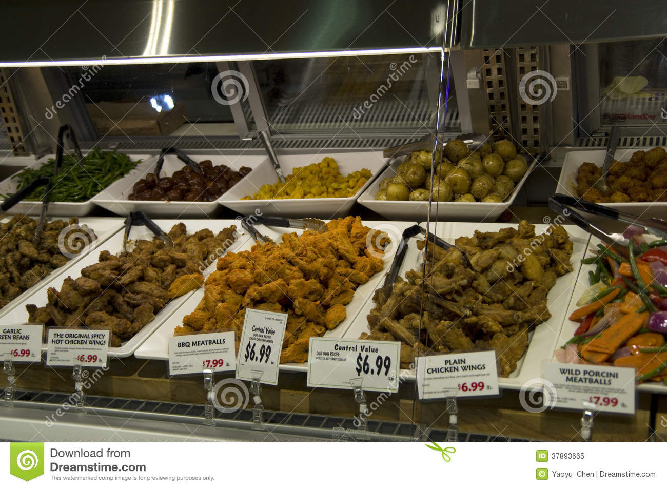 Cooked fresh food in supermarket royalty free stock photo for Fresh fish shop near me