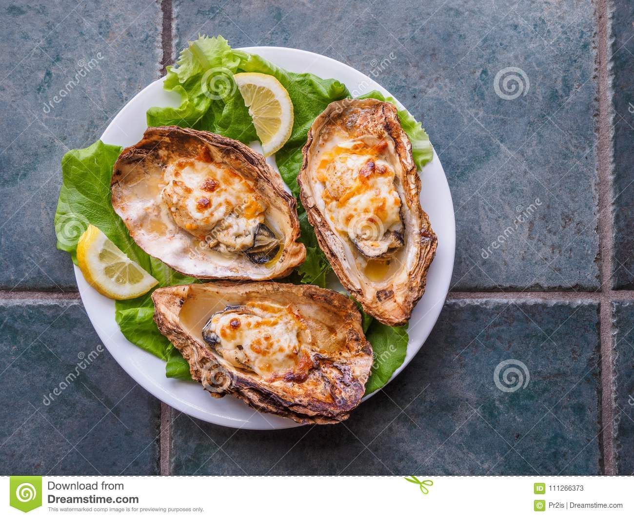 Cooked Oysters