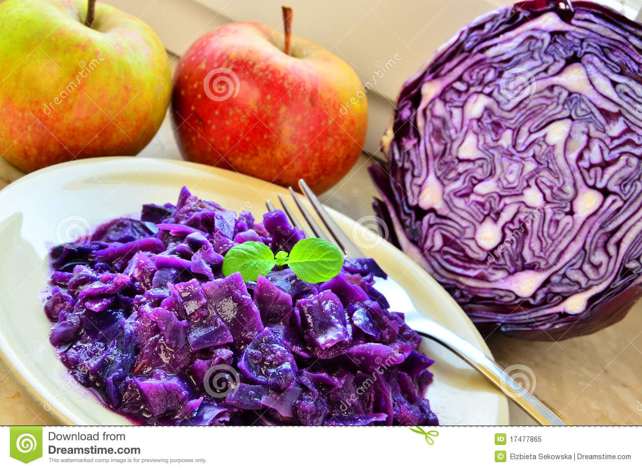 Cooked Red Cabbage Royalty Free Stock Photo - Image: 17477865