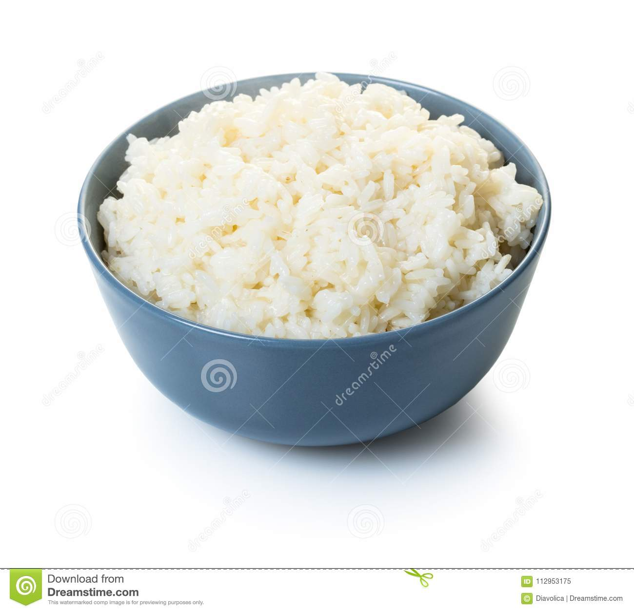 Cooked rice in a bowl