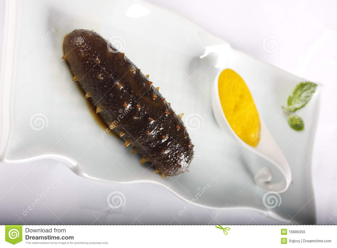 Cooked Sea Cucumber Royalty Free Stock Photo - Image: 16886355