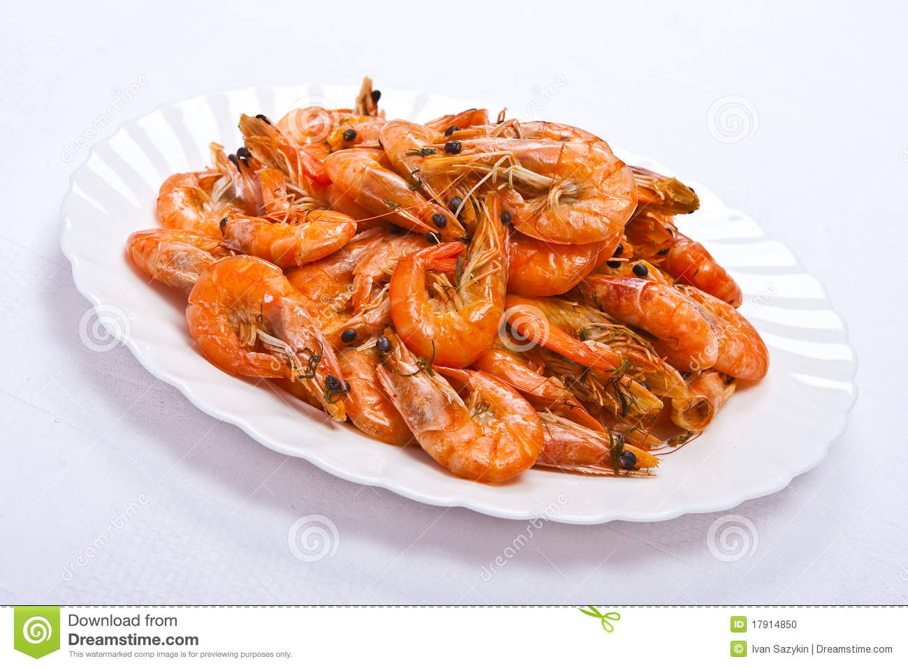 Cooked Shrimp Clipart Cooked shrimps on plate