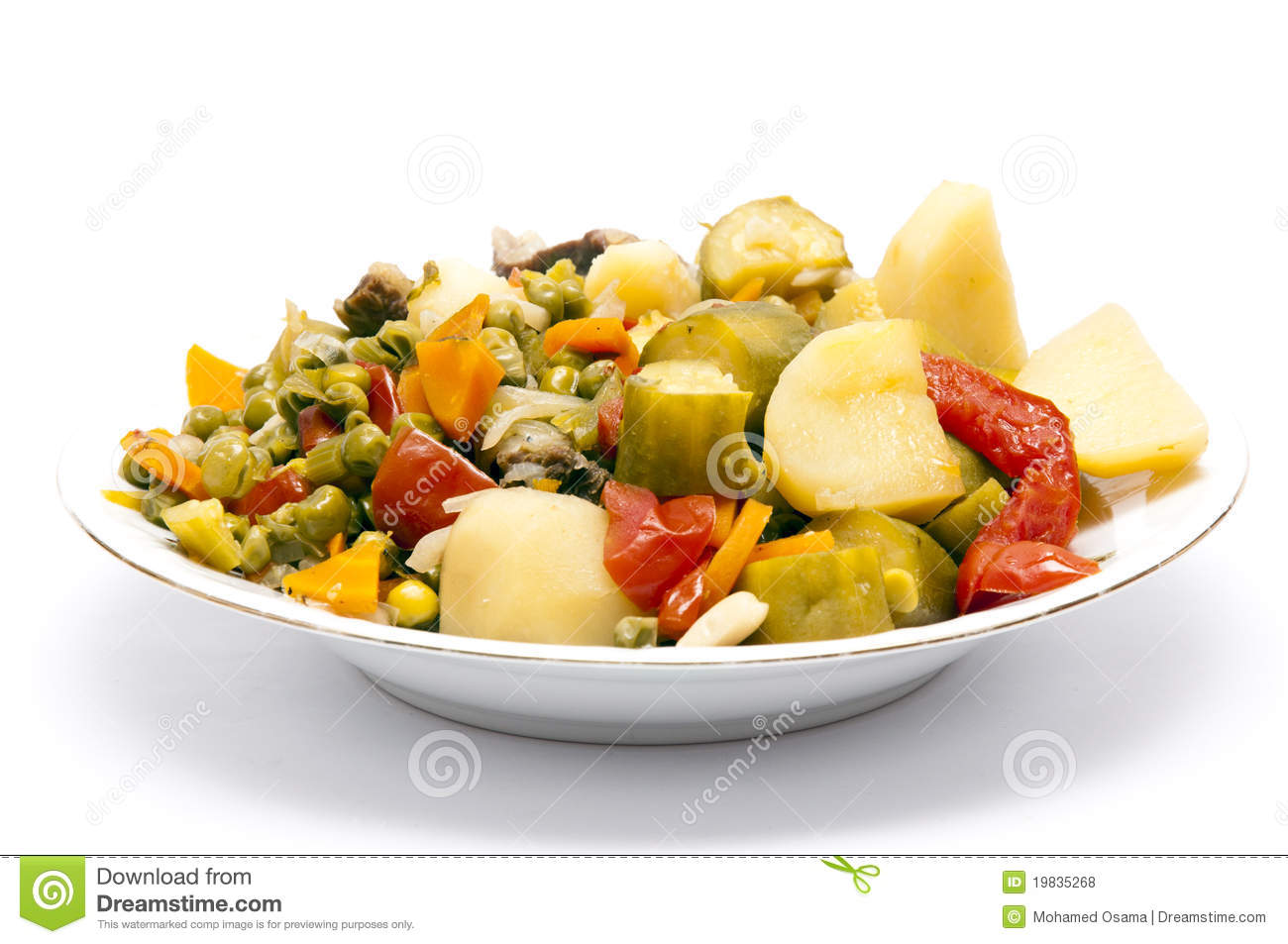 Cooked Stew Vegetables