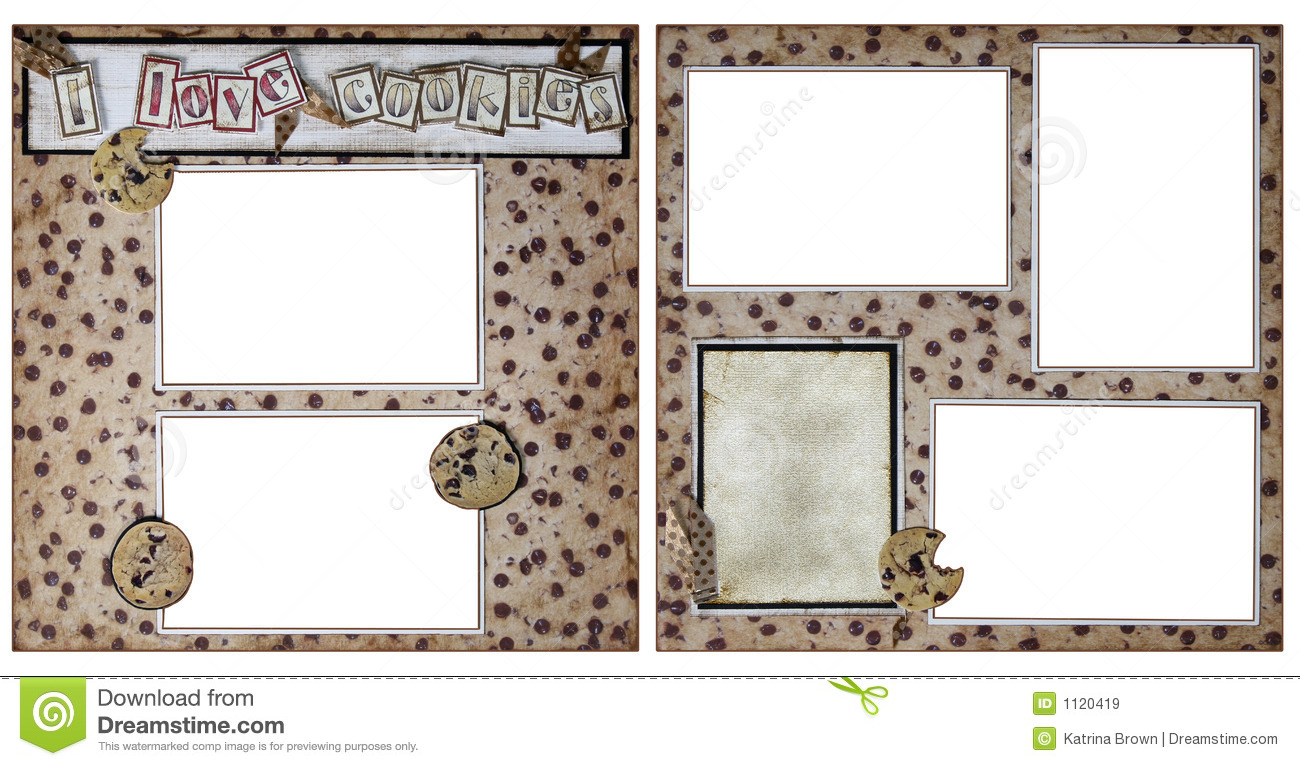 cookie baking scrapbook frame template stock illustration