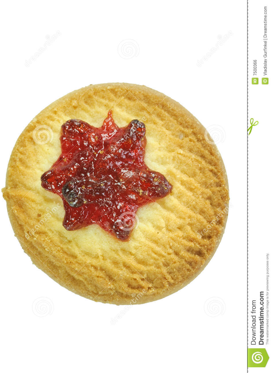 Cookie With Cherry Jam Royalty Free Stock Image - Image: 7500366