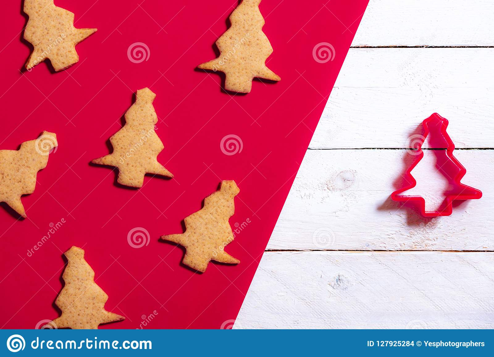 Cookie Cutter And Christmas Tree Cookies Stock Photo Image Of
