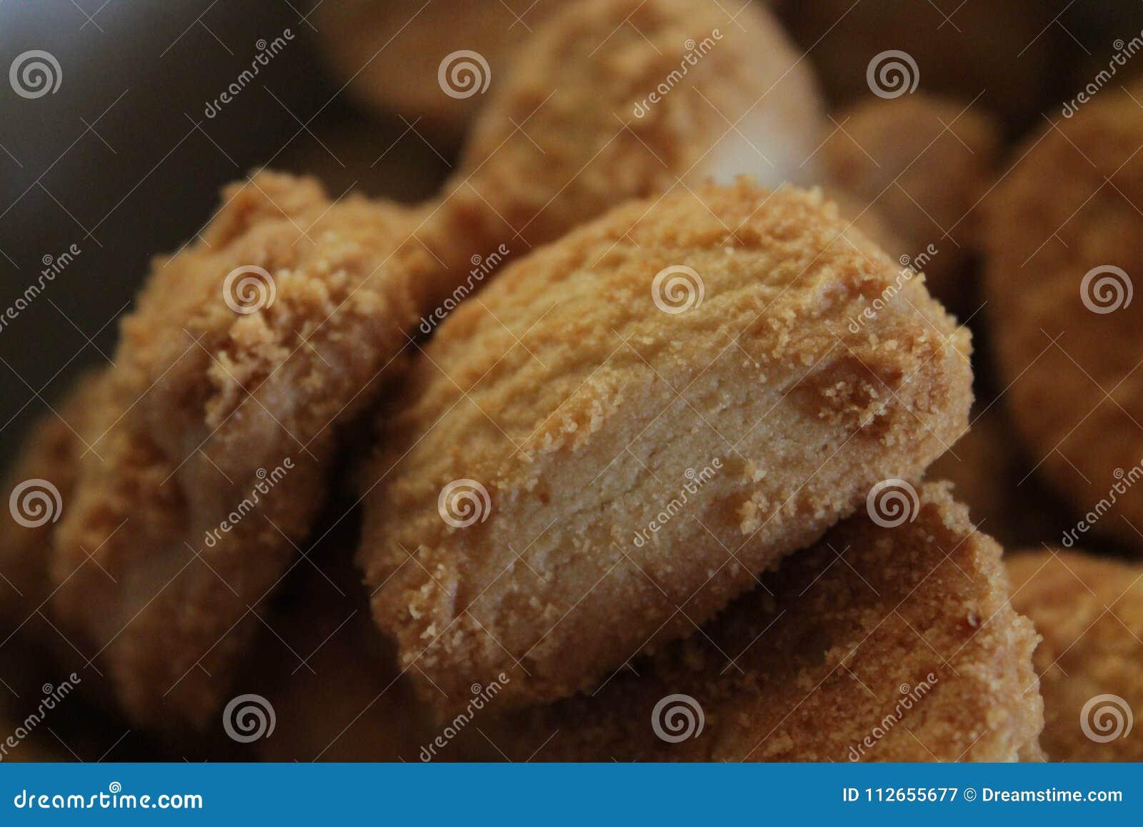 Cookie de biscoito amanteigado doce, muito perto