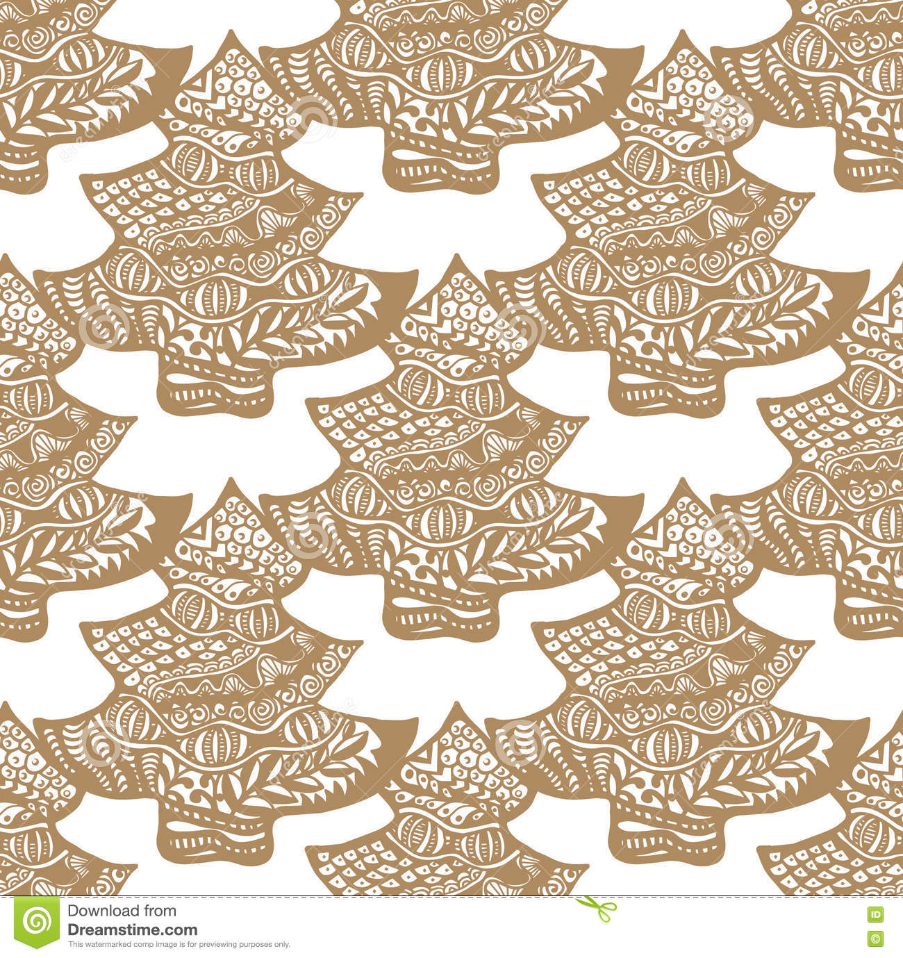 Cookie in the form of a Christmas tree pattern