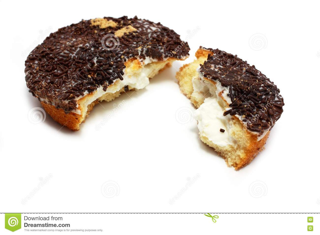 Cookie With Glaze And Chocolate Stock Photo - Image: 20142520