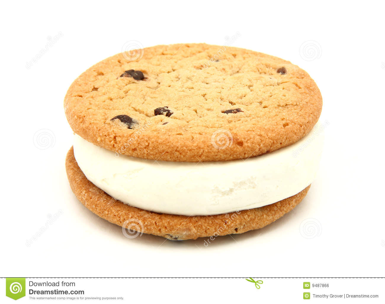 cookie ice cream sandwich stock photo image of yummy