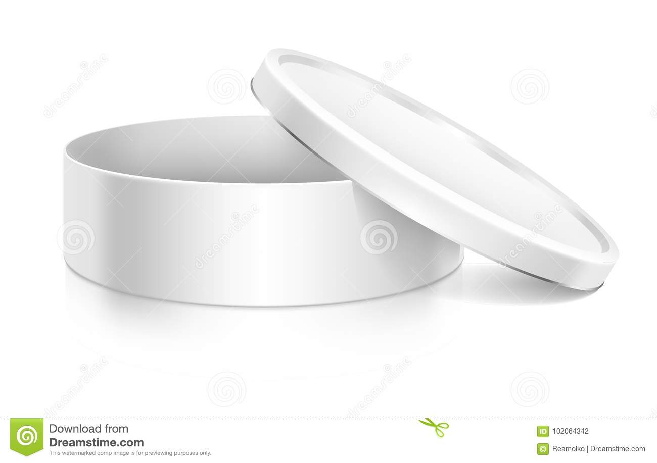 Cookie Tin Box Mock Up Template Stock Vector Illustration Of