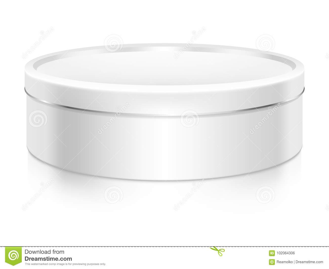 Cookie Tin Box Mock-up Template. Stock Vector - Illustration of ...