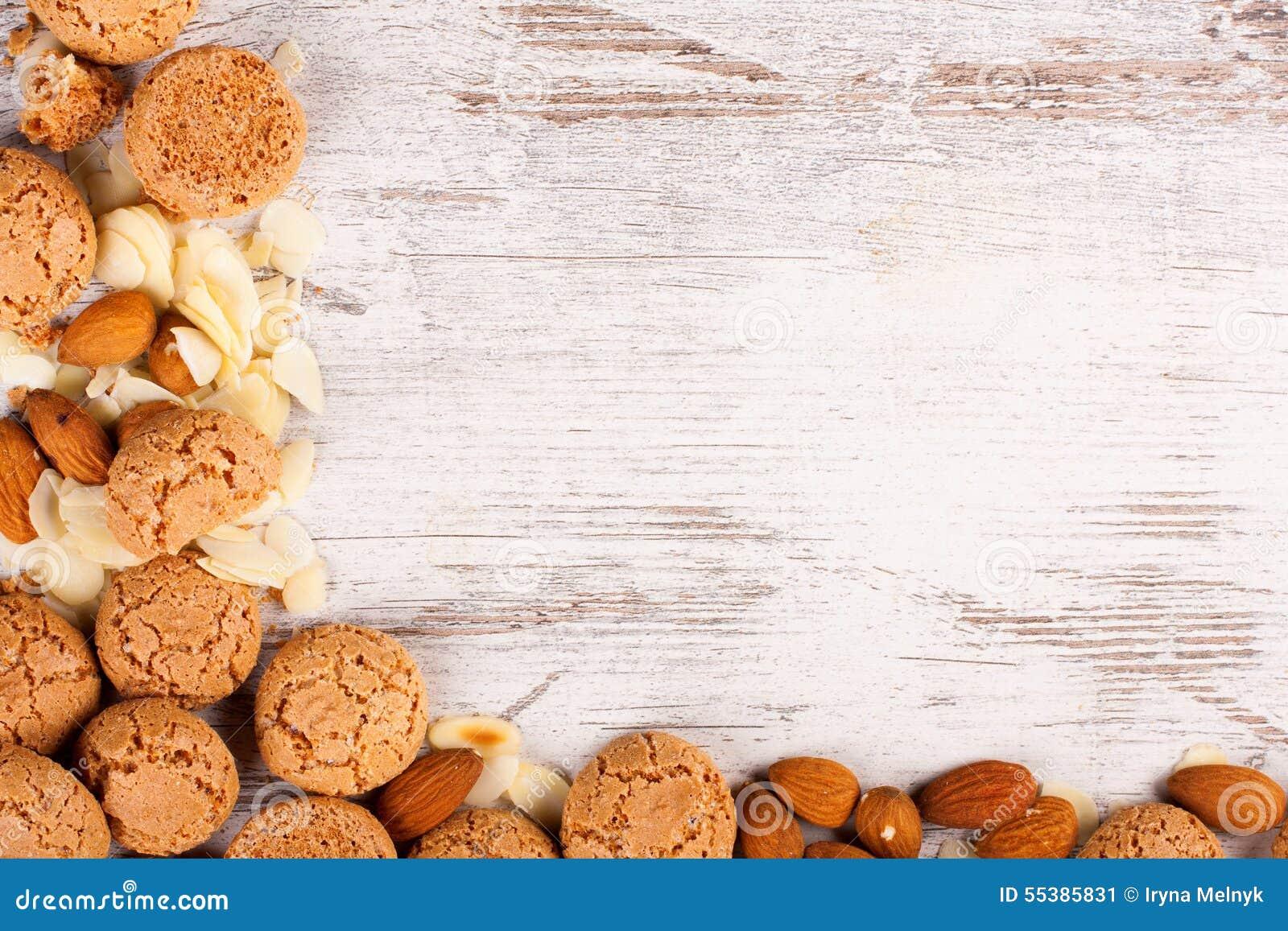 White Chocolate Almonds Cookies