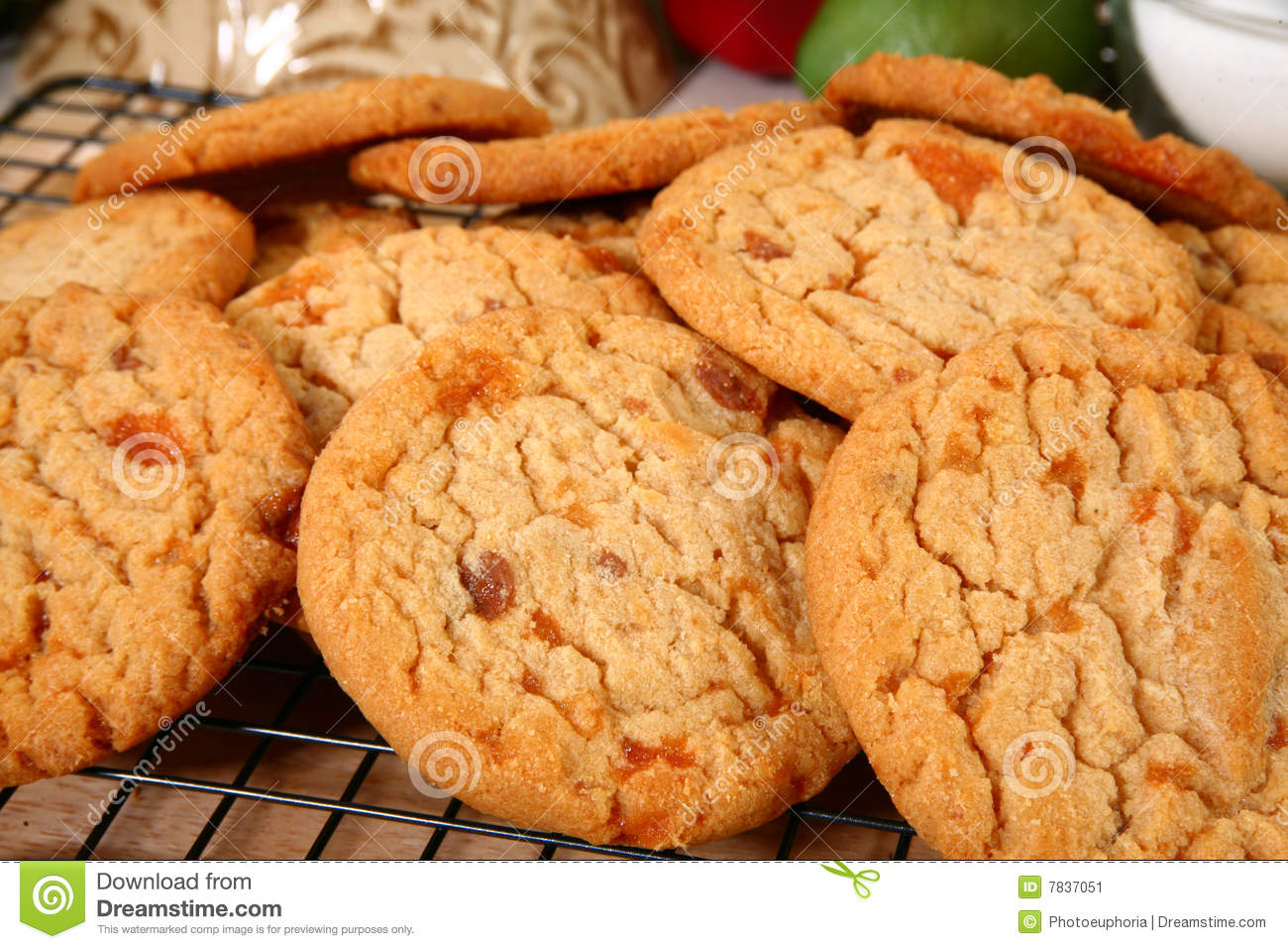 ... flakey, brittle, chocolate covered candy bar baked into the cookies