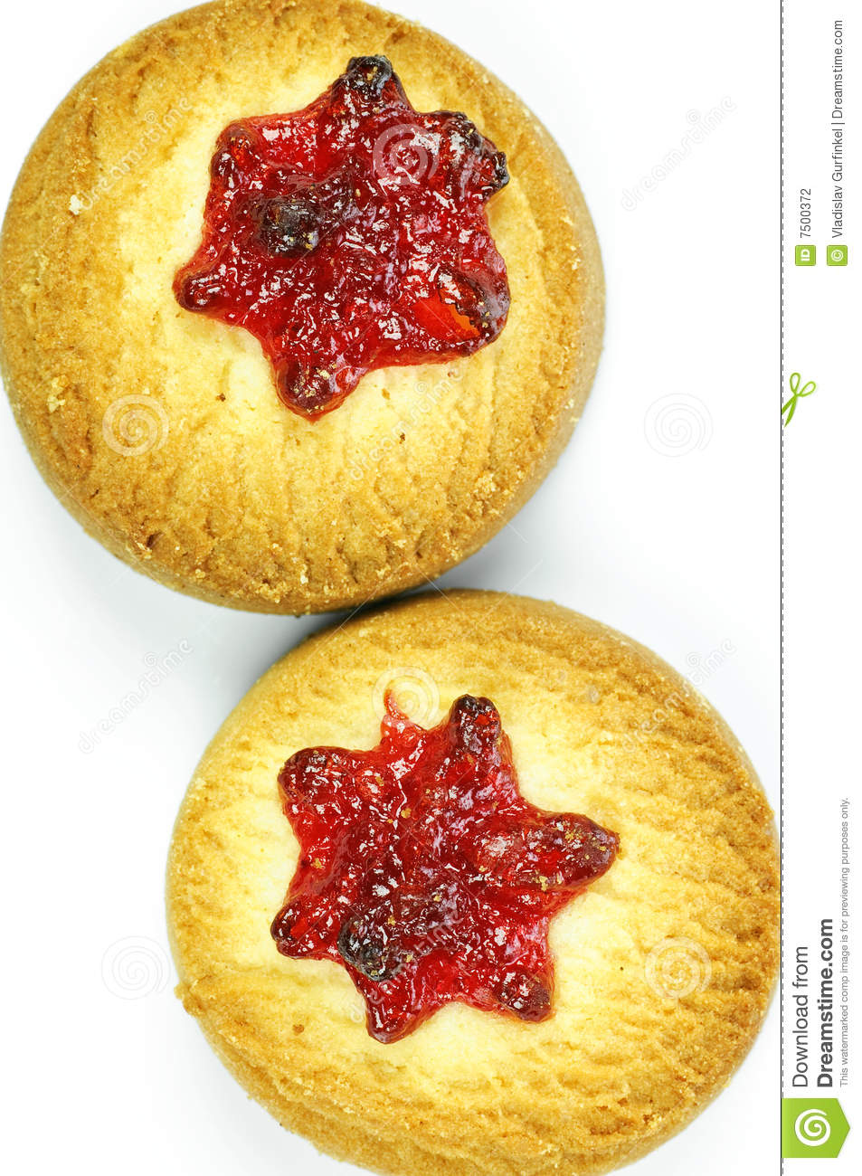 Cookies With Cherry Jam Stock Photography - Image: 7500372