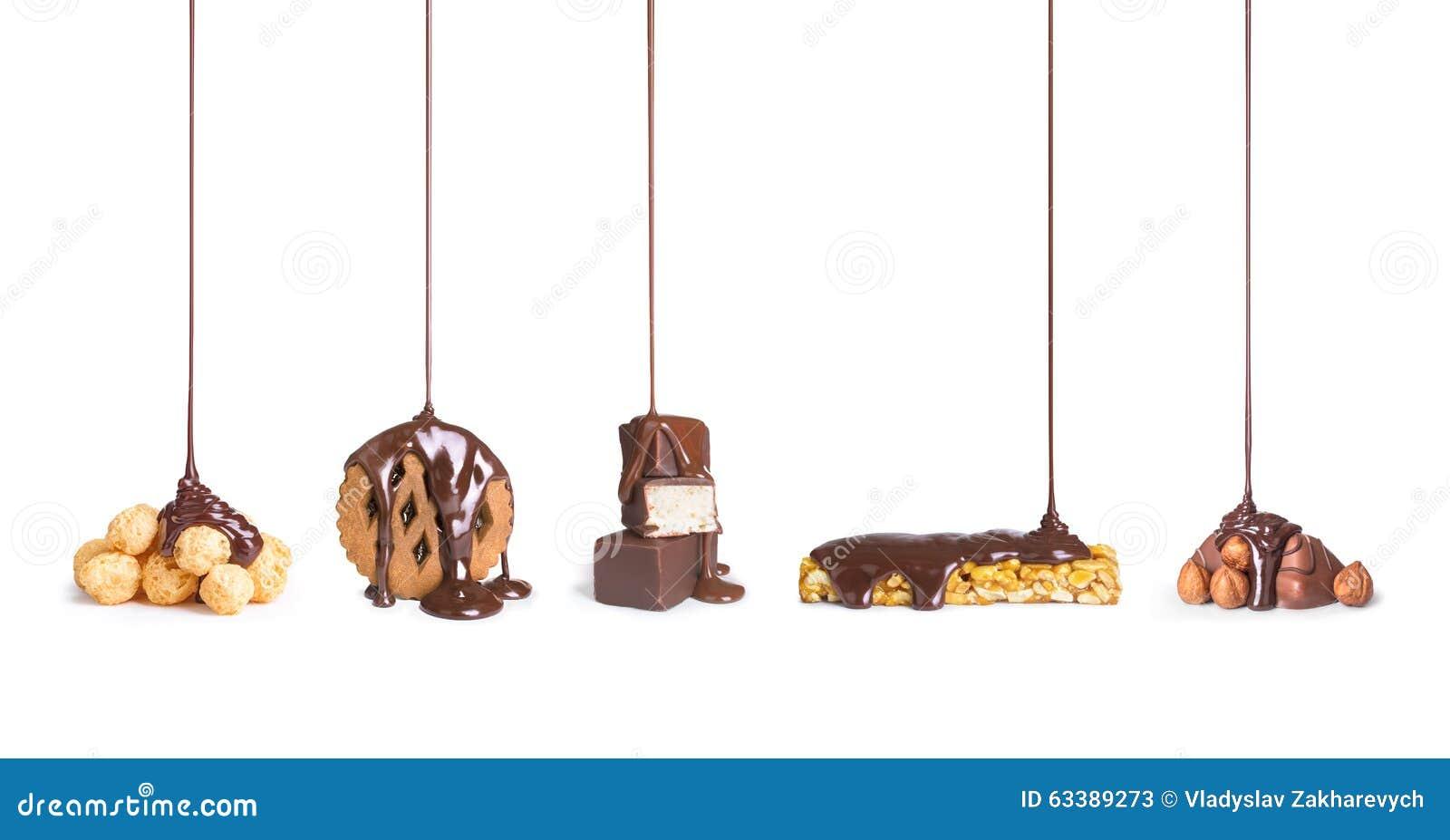 On cookies, chocolate,