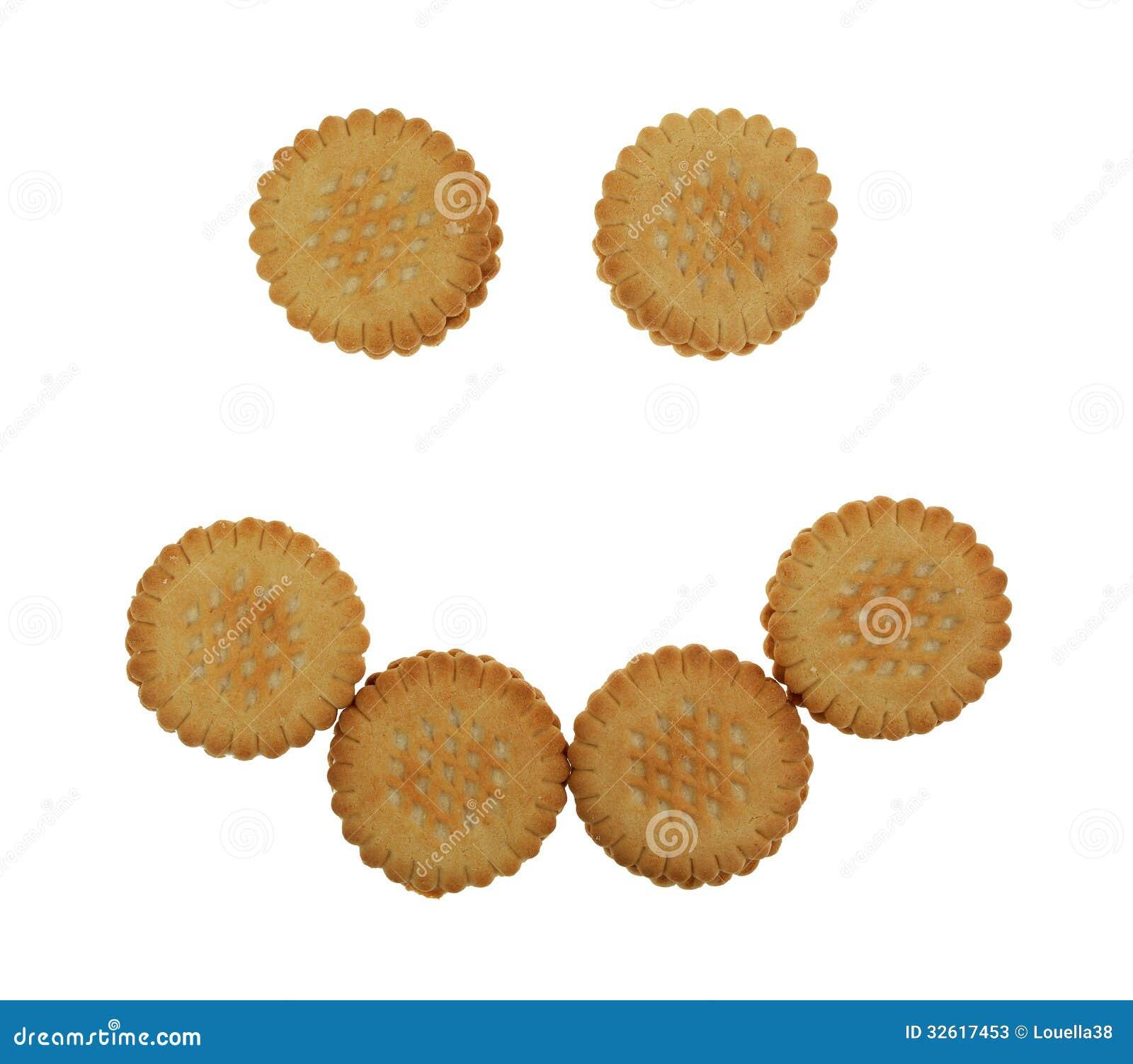 Cookies de creme Smiley Face da banana