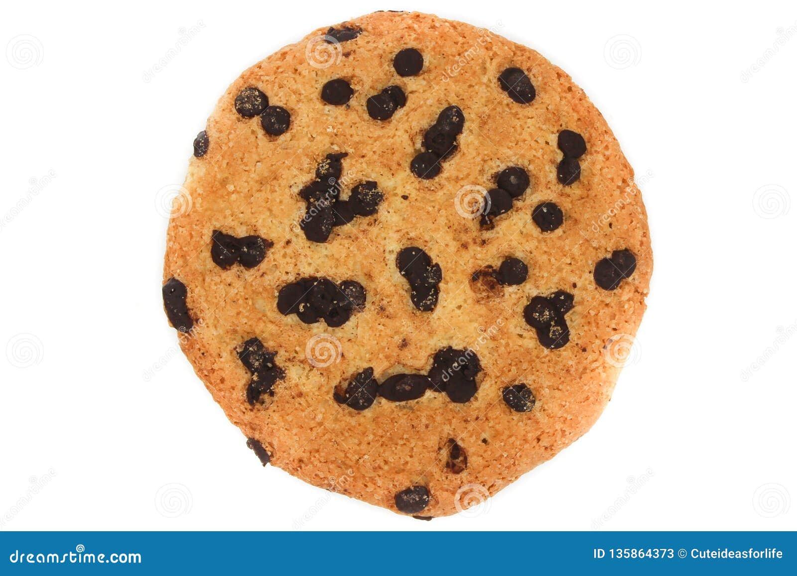 Cookies de farinha de aveia com gotas de chocolate